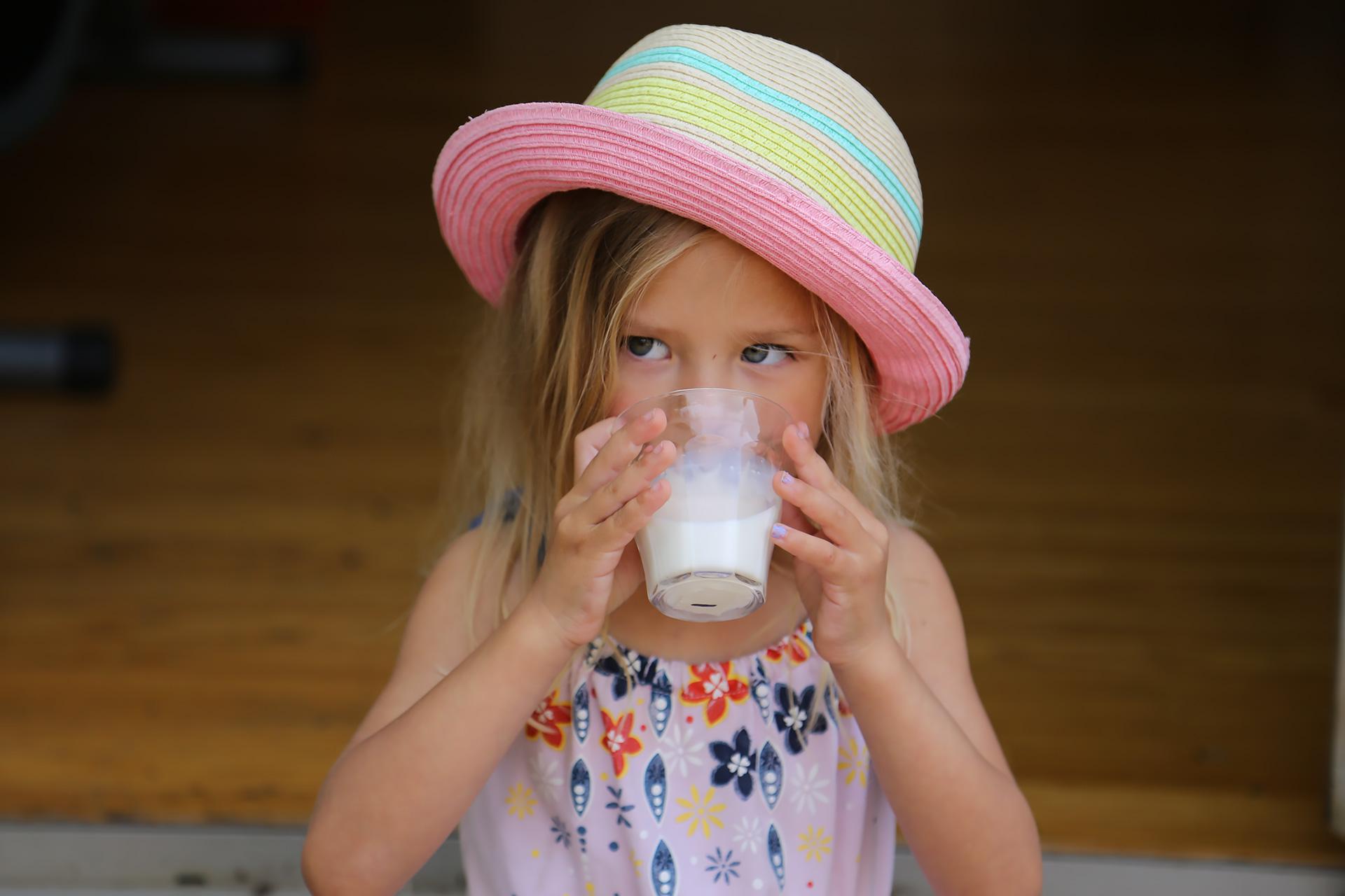 Taste-testing the milk for flavor