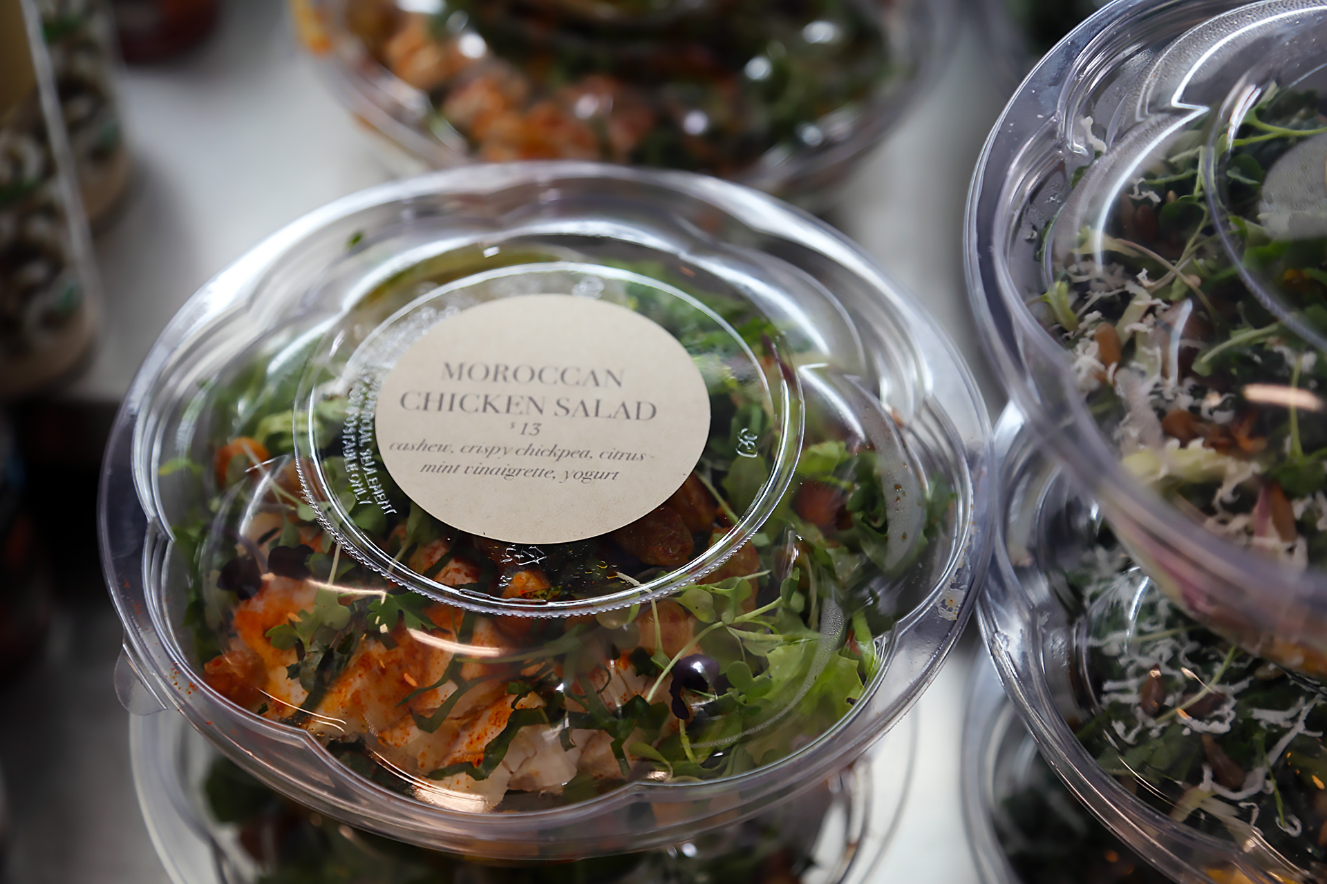 Food To-Go includes salads, sandos, fresh pasta and sauce.