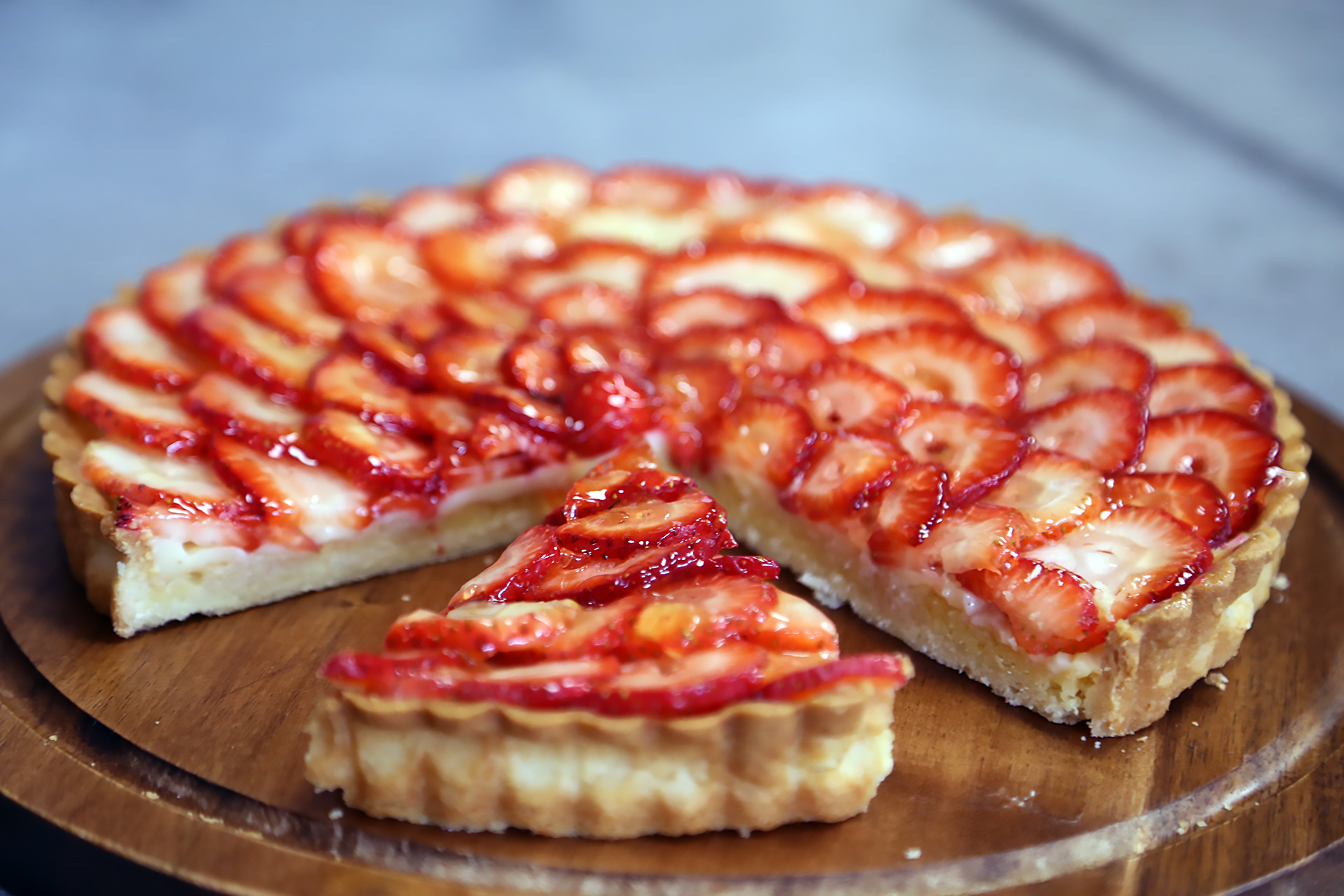 Strawberry and Almond Cream Tart.