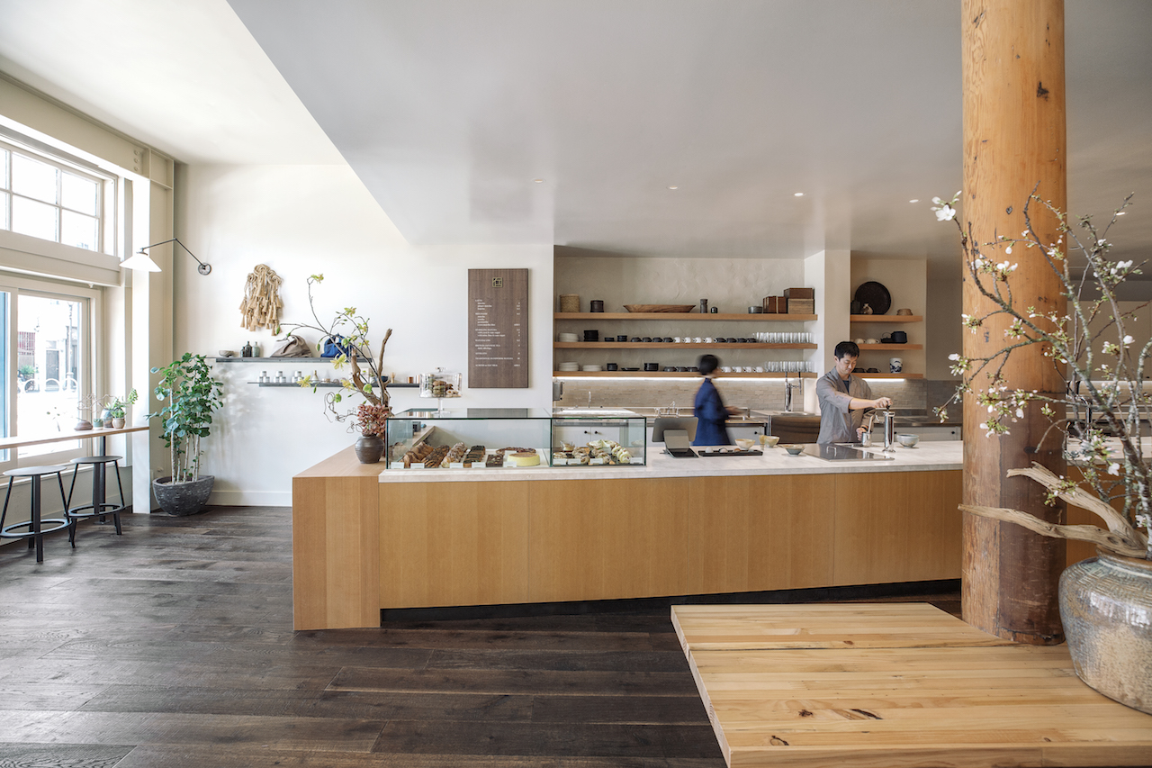 The serene interior of the new Stonemill Matcha on Valencia.