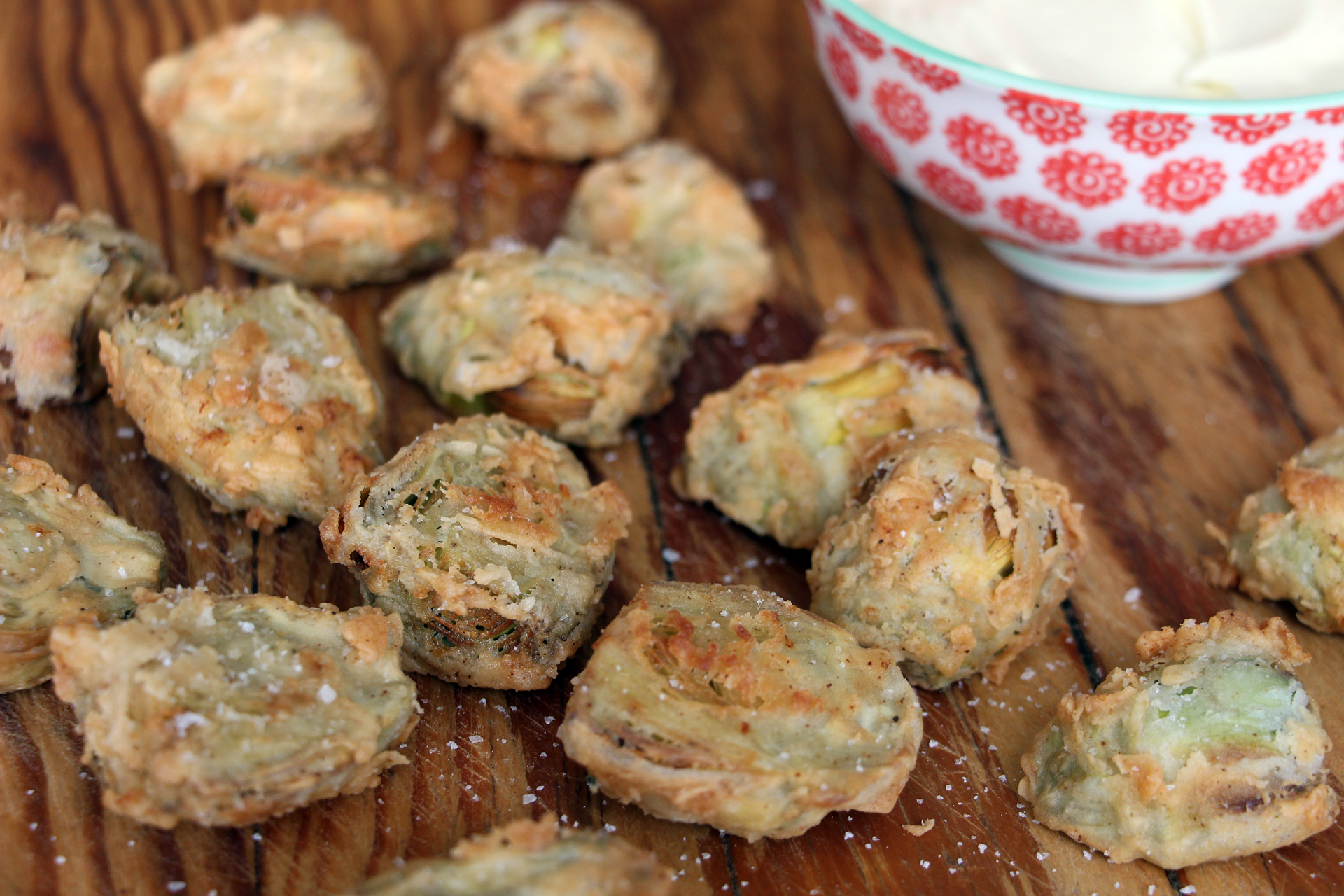 Fried Baby Artichokes with Homemade Meyer Lemon Mayo