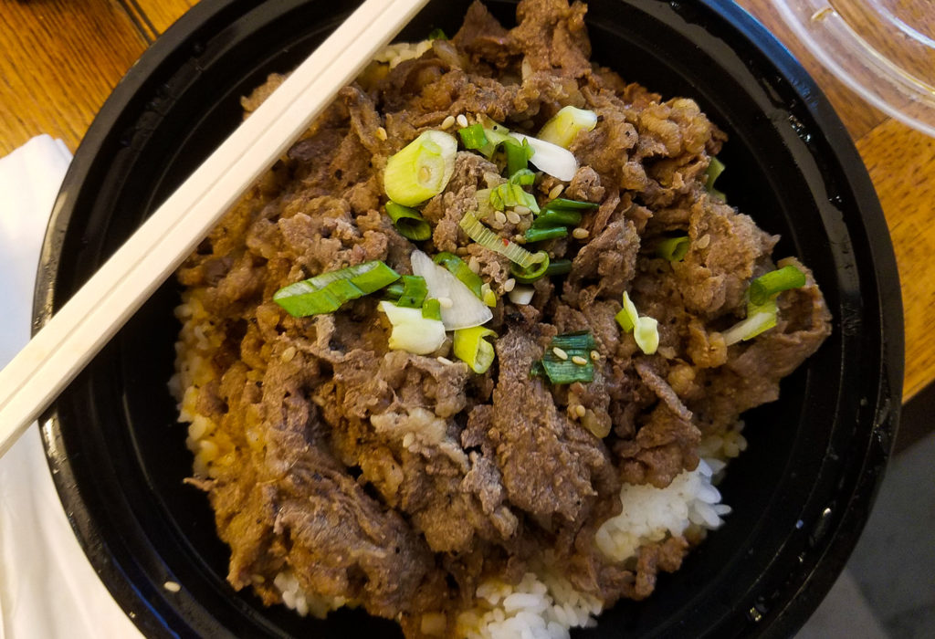 Bulgogi Korean rice bowl at Bowl and Roll in Santa Rosa.