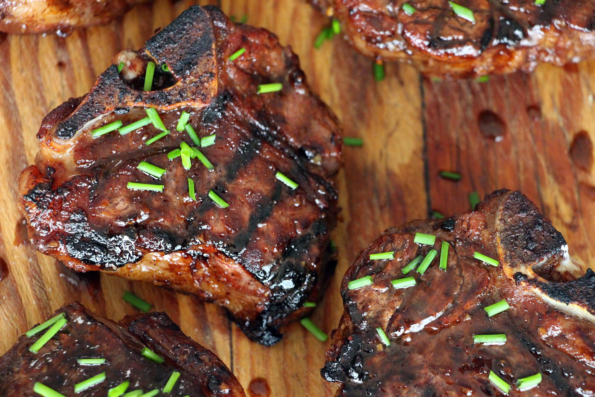 Five-spice lamb chops