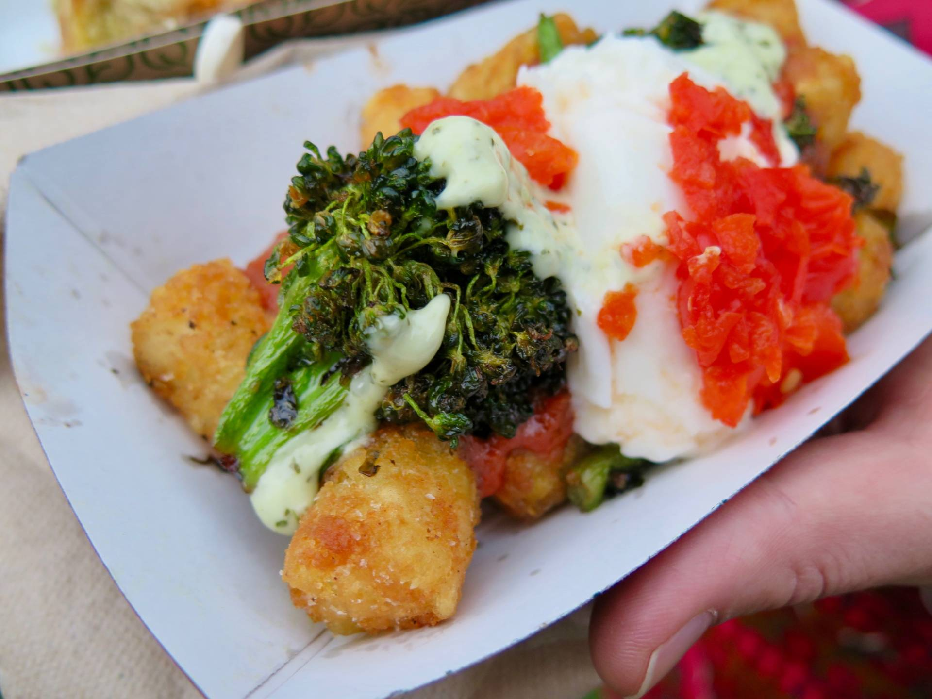 "The ""Italian-style"" tater tots from Stones Throw at Outside Lands."