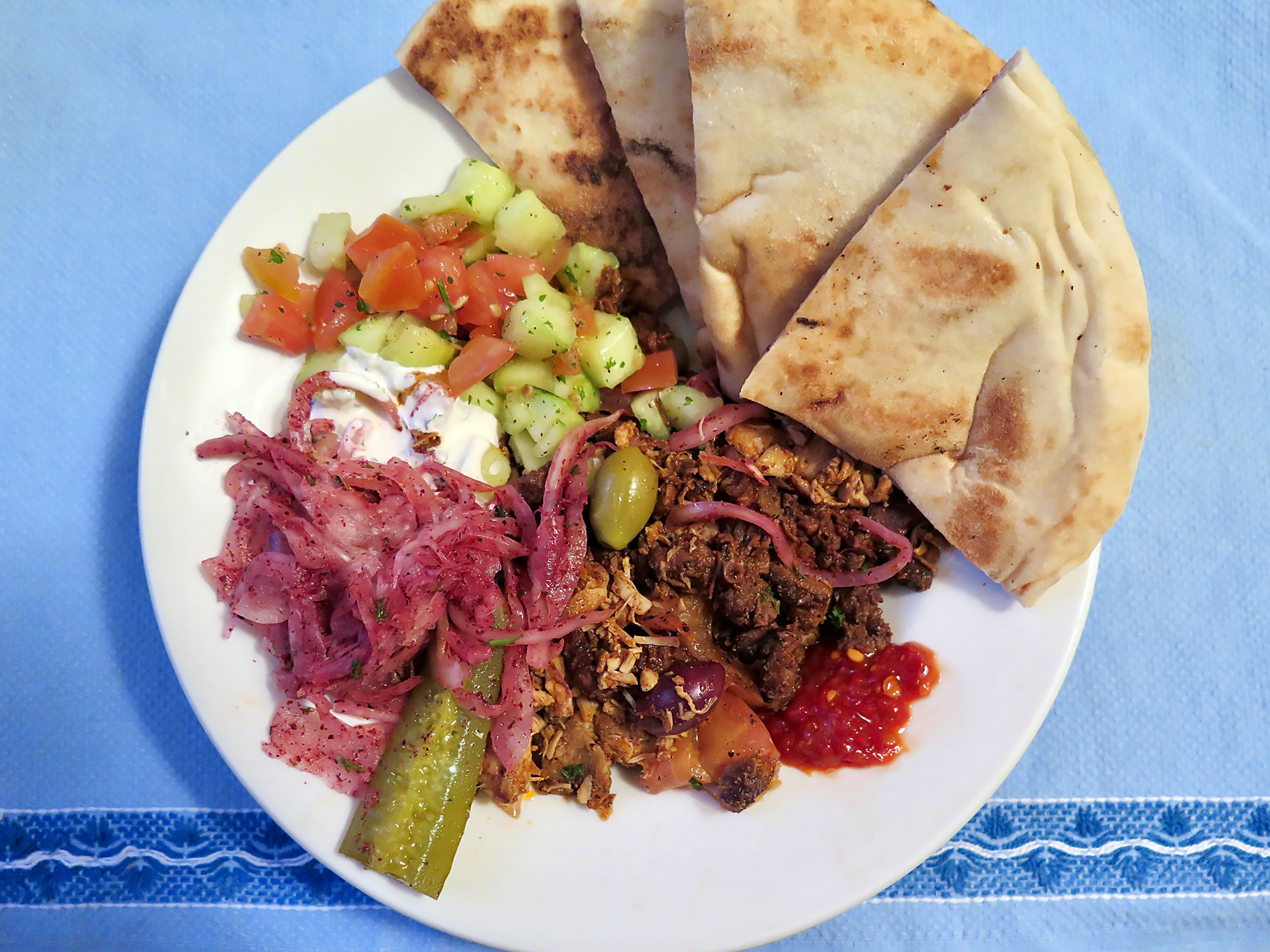 A midweek meal at Zaytoon will fit the bill (and this isn't even the full portion!).