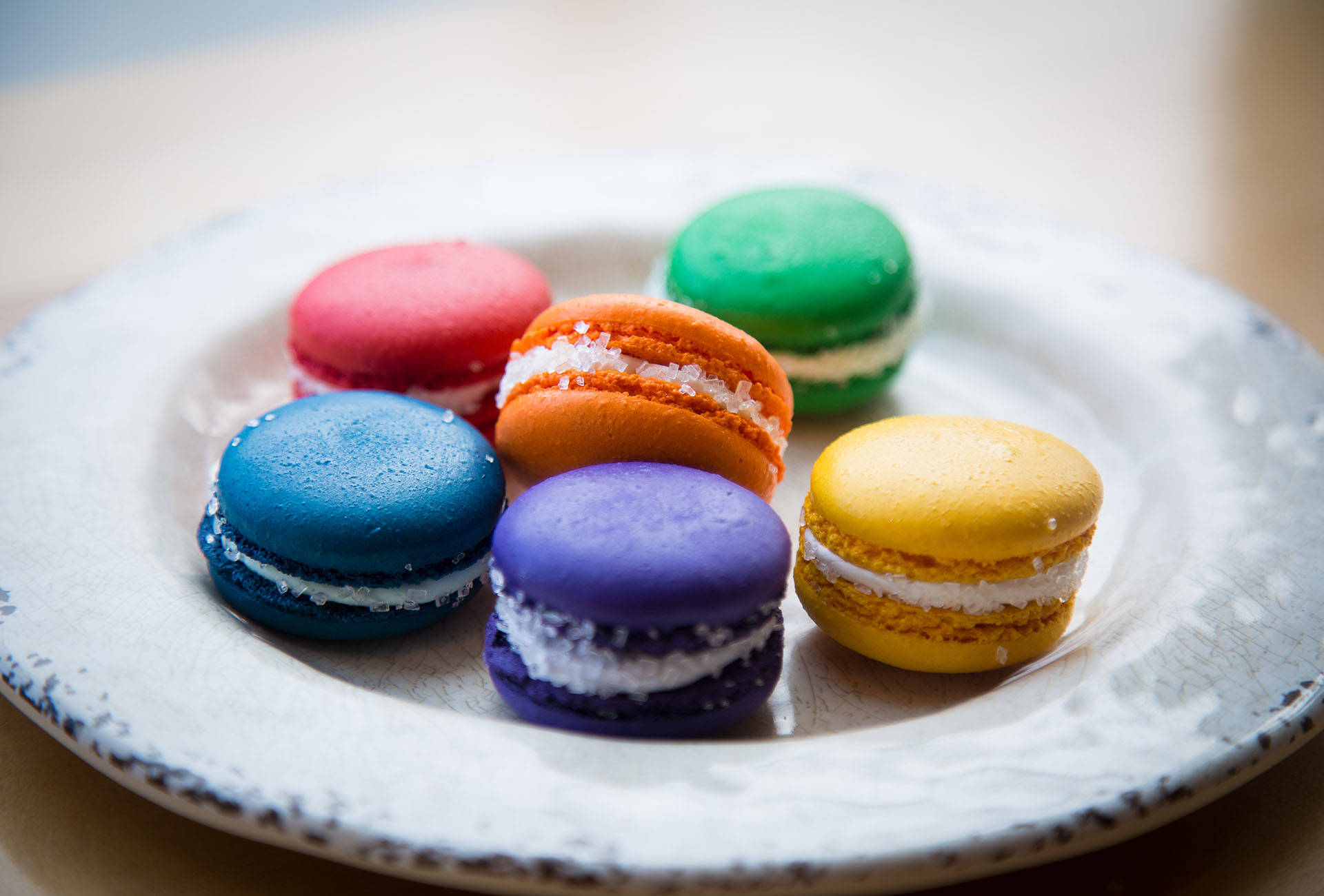 Among the Pride-themed Macarons are bellini and midori sour. Patrick Wong