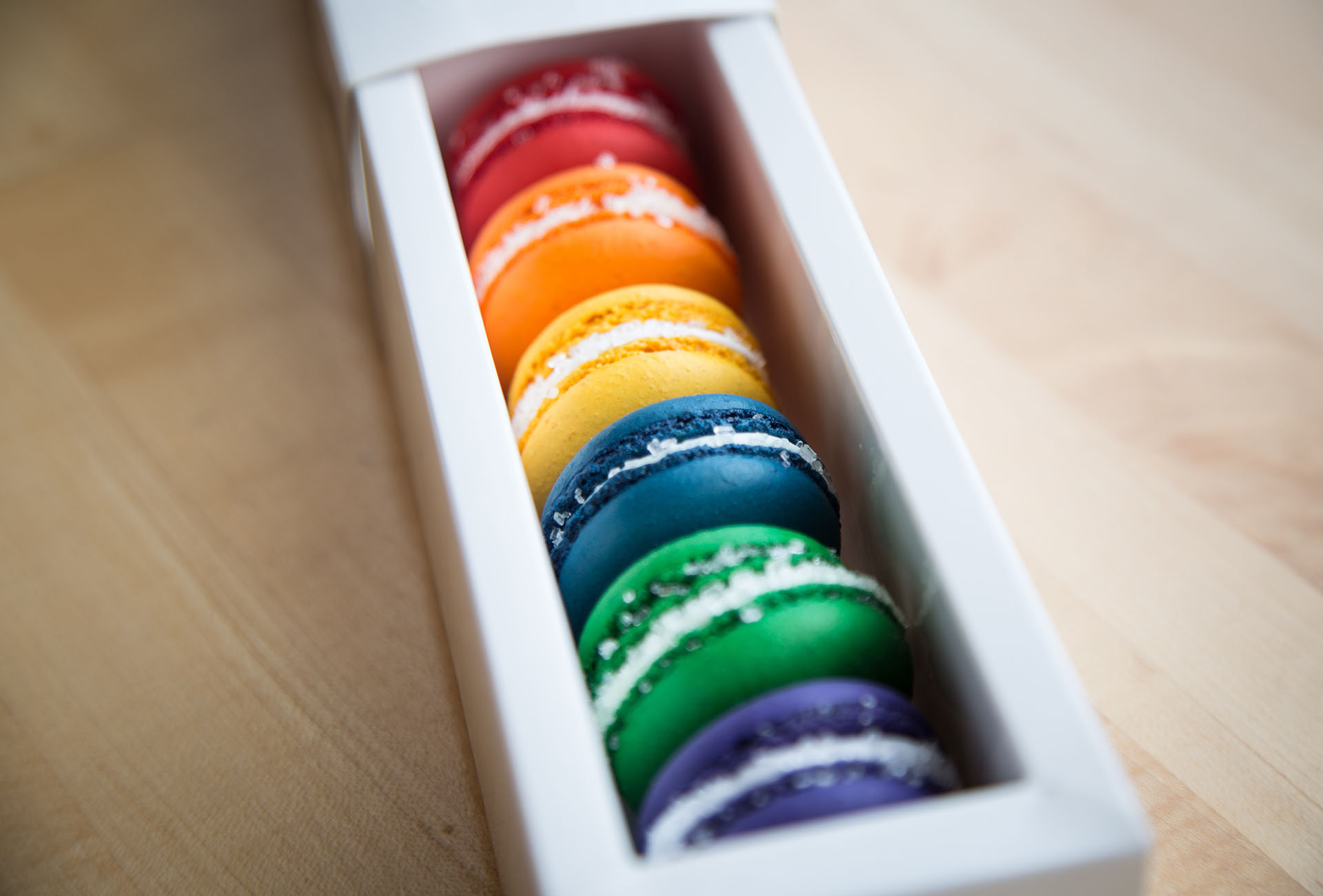 The Pride-themed Macarons are available to order online and come in a case of six.