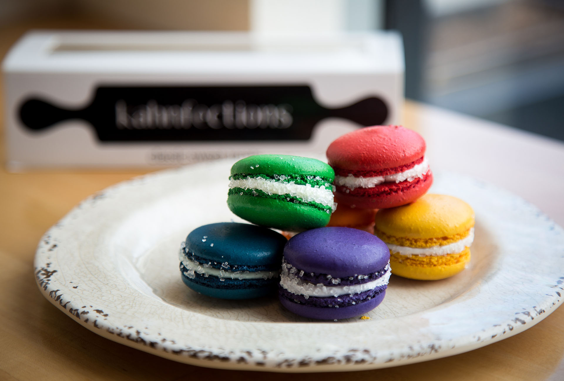 The Six Pride-themed Macarons are all cocktail flavored.