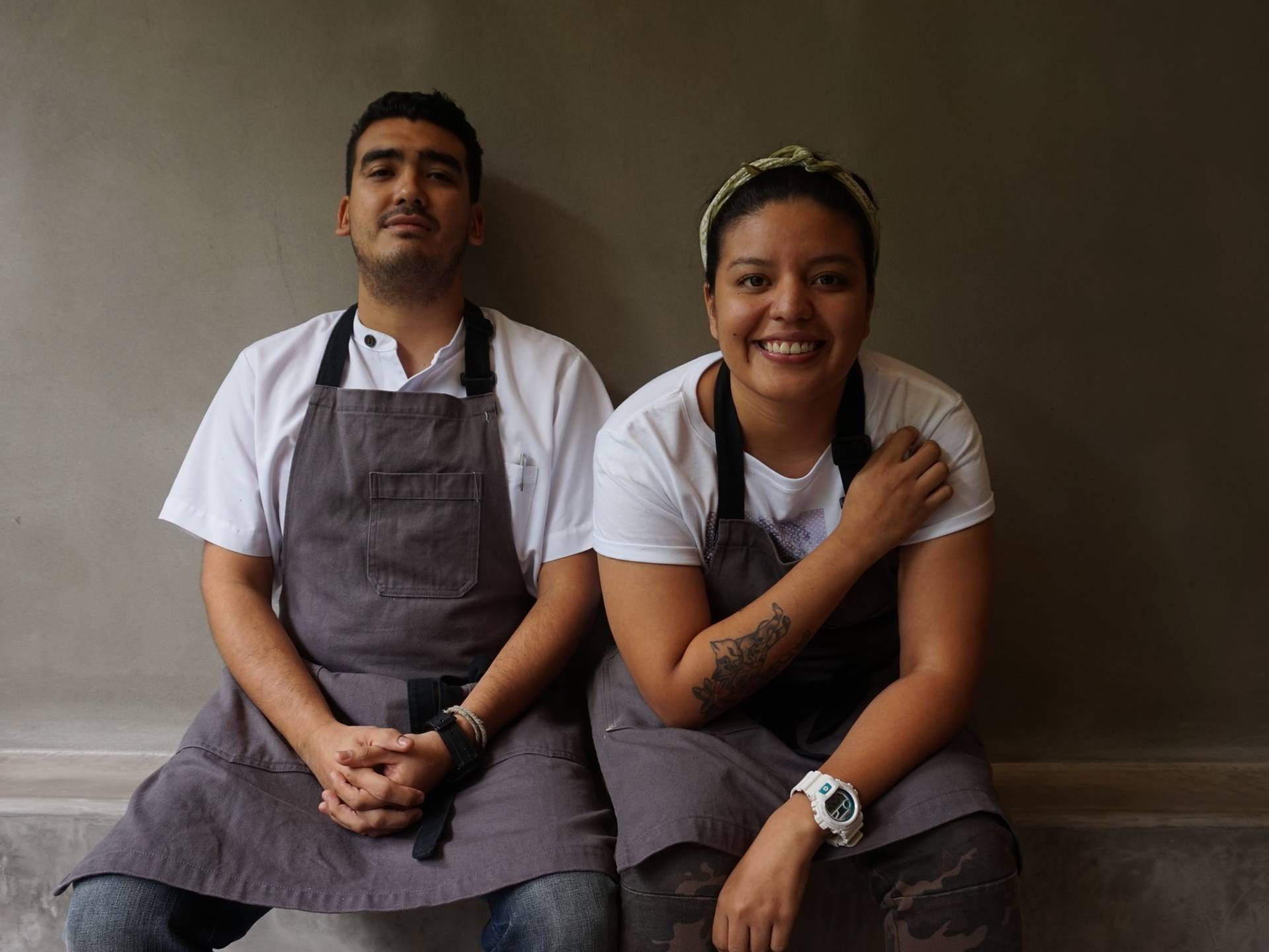 """Chefs Mario Portillo and Fatima Mirandal of Boca Boca restaurant. """"The flavor is new and exciting for our generation, and brings back a flood of good memories for the older people,"""" Mirandal says."""