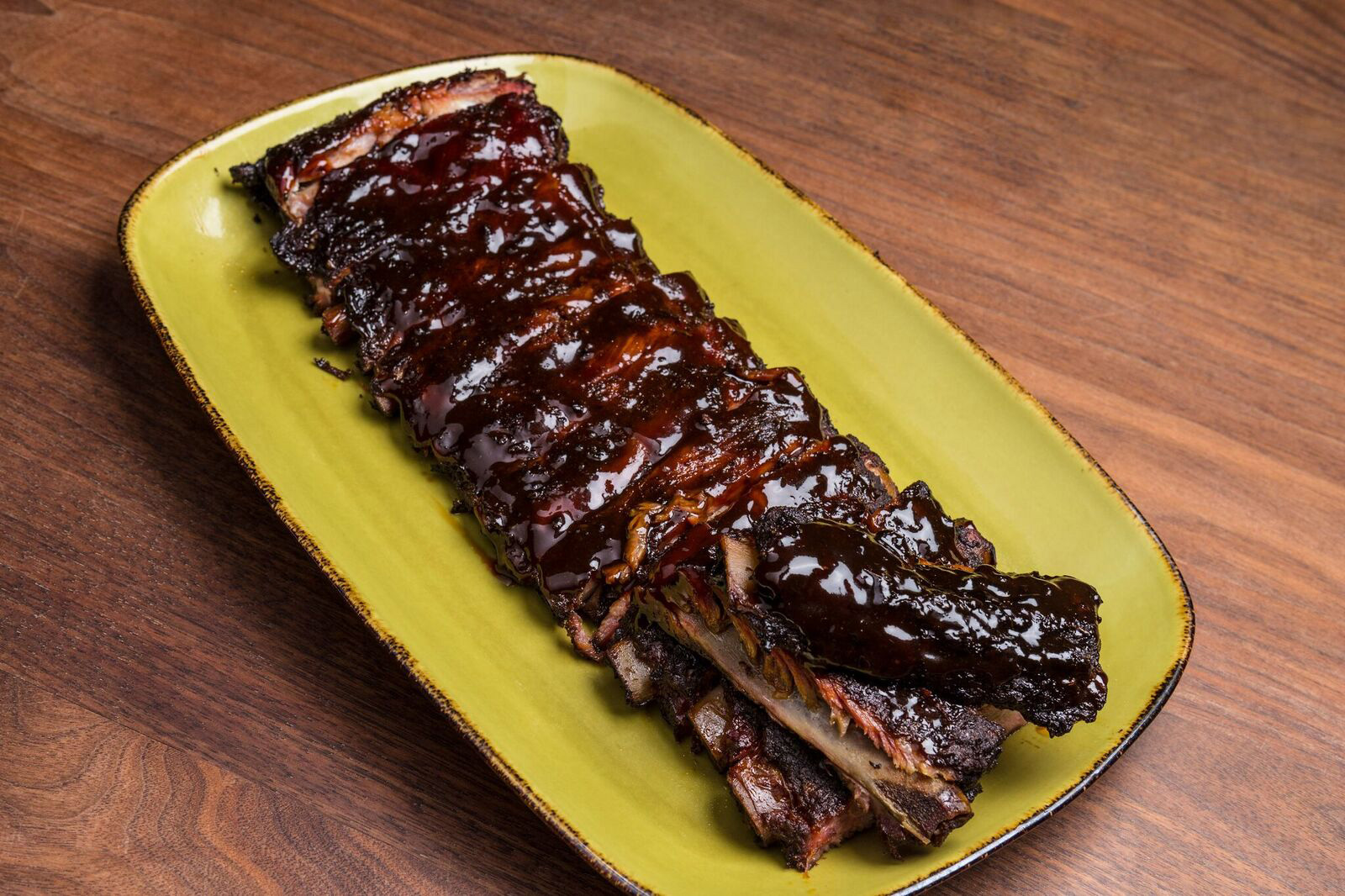 One Market's Back Porch BBQ includes St. Louis-style ribs with housemade BBQ sauce.