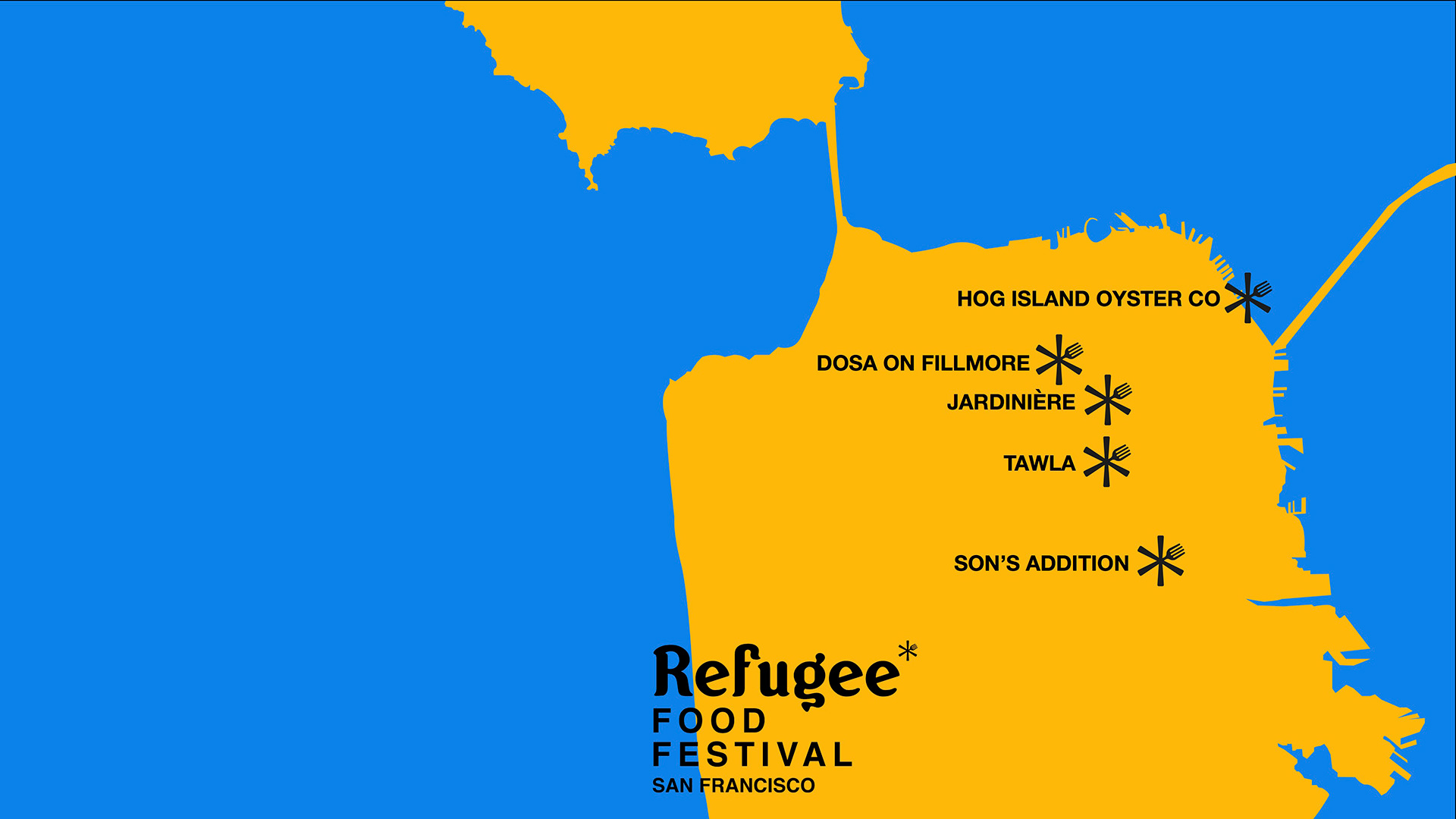 Don't miss the Refugee Food Festival in San Francisco.