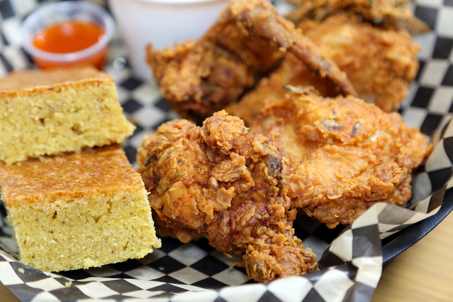 Millie Bell's Rosemary Fried Chicken and Cornbread.