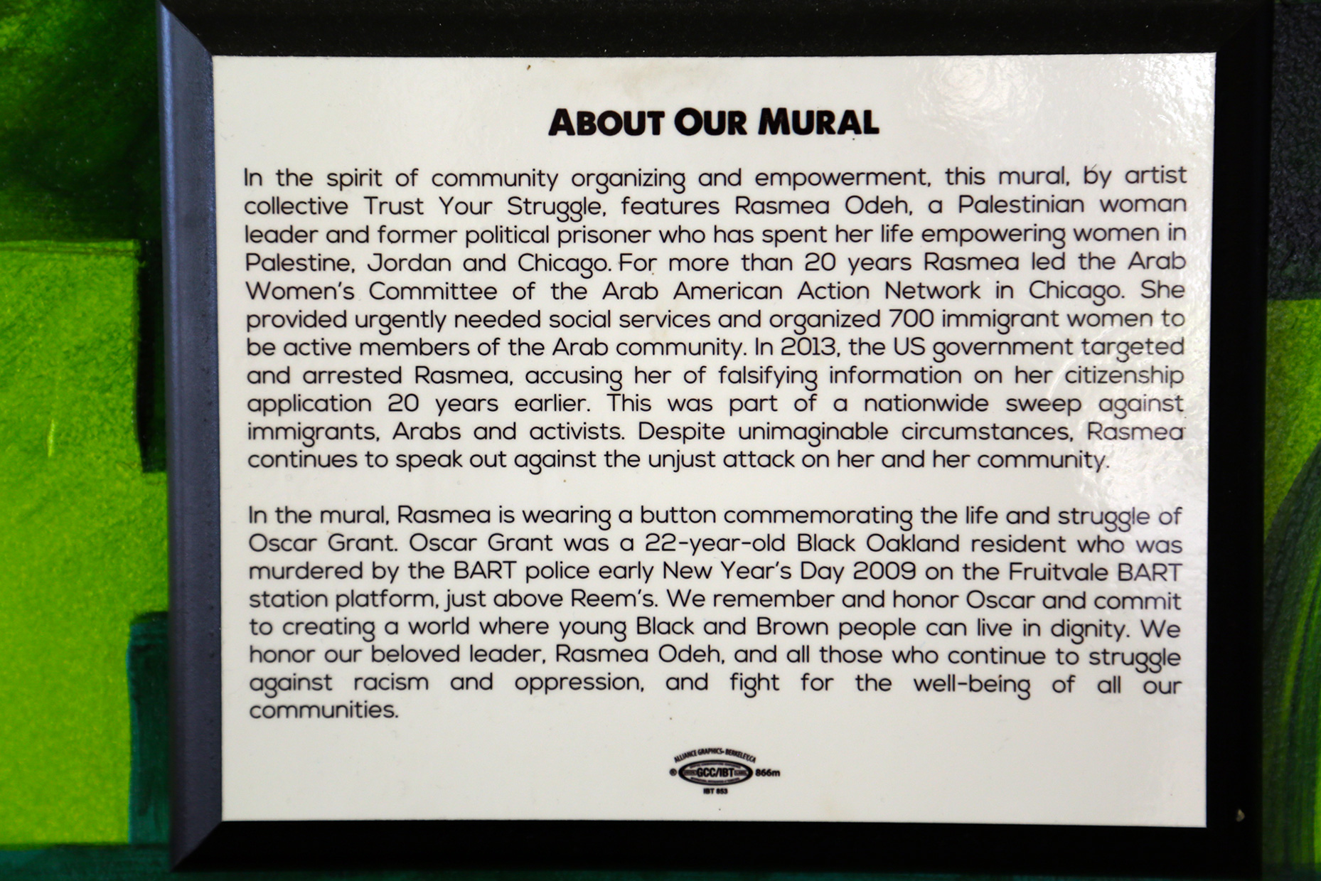 Statement about the mural.