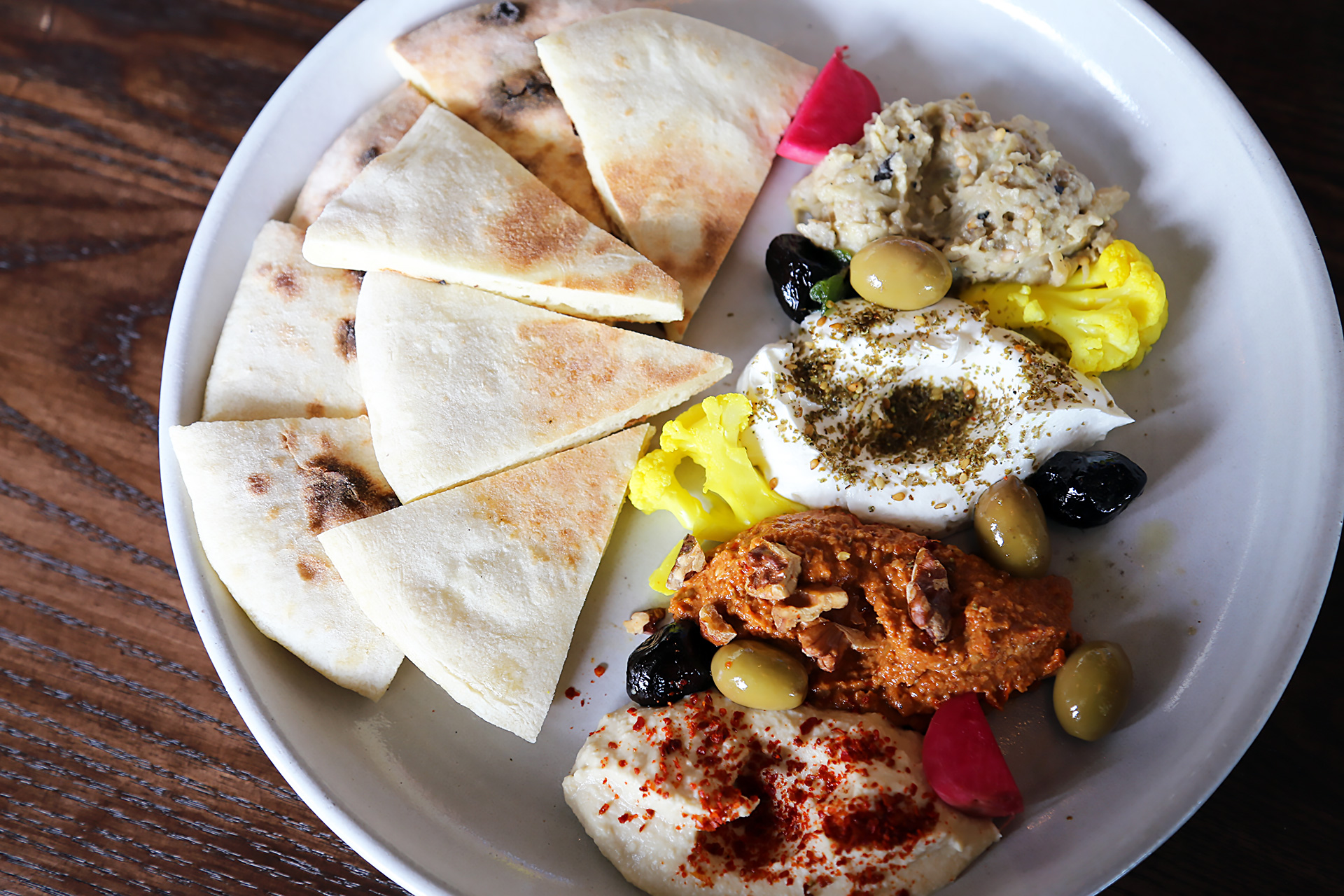 Mezze Sampler at Dyafa.