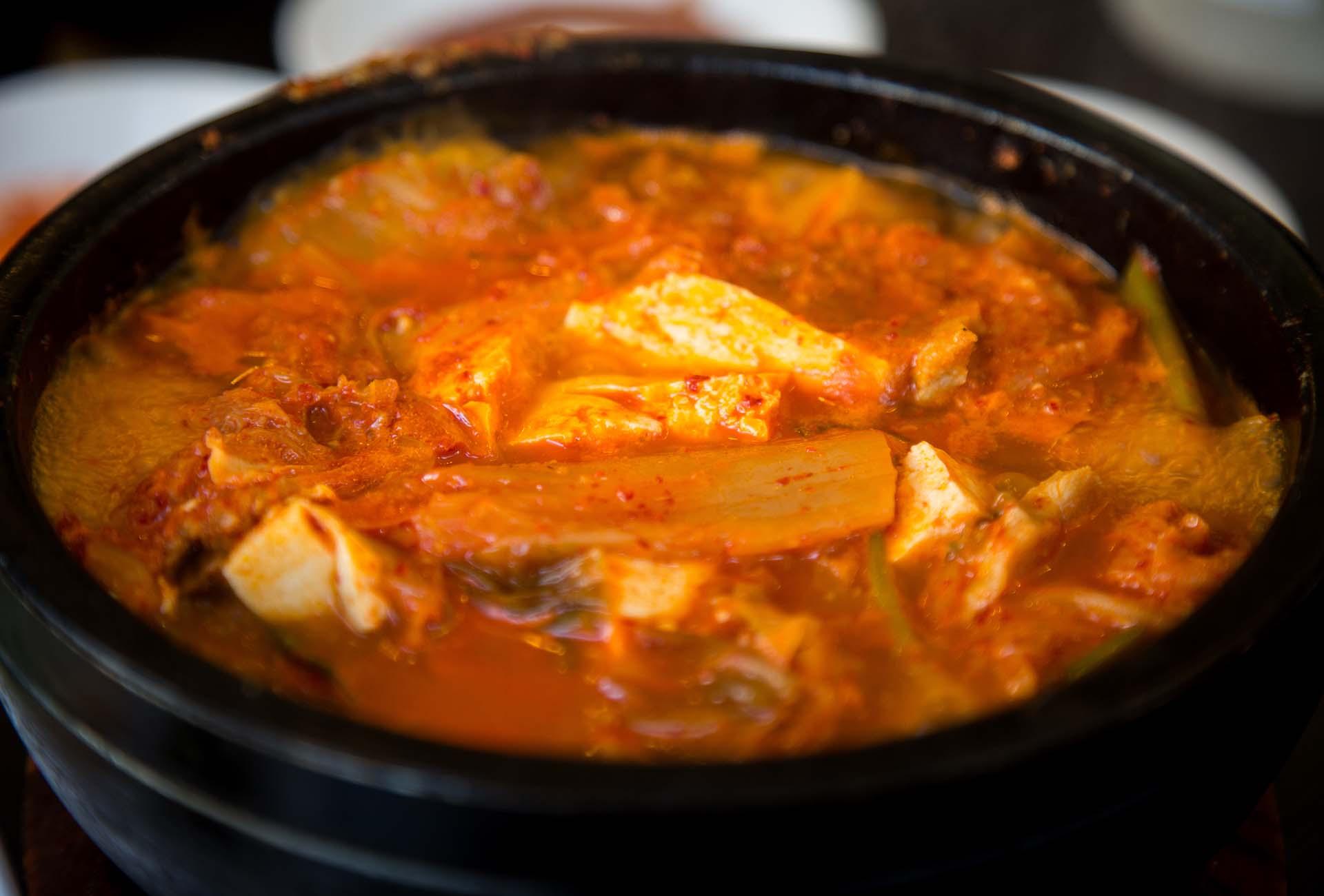 Muguboka offers other traditional Korean staples like kimchi jjigae