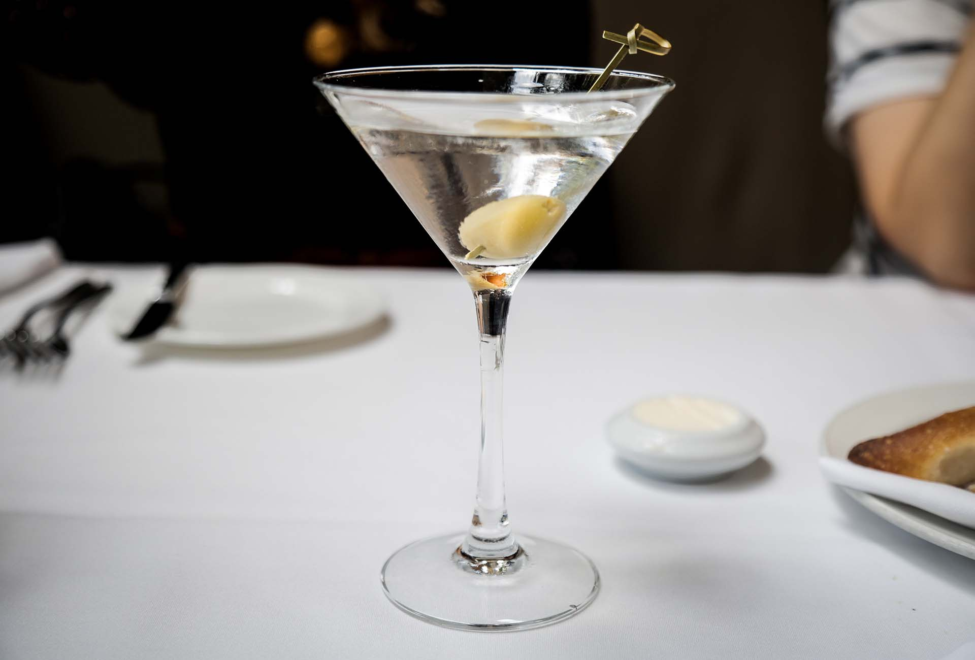 The $5 gin martini from One Market's lunch cocktail menu