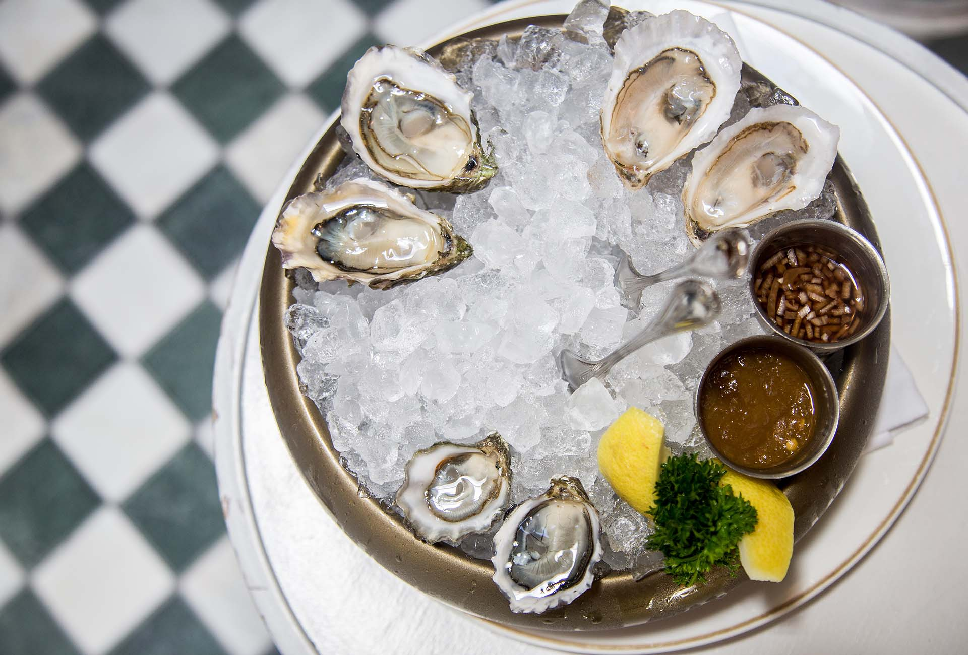 The Kumamoto oysters with the Grassy Bar and Saquish