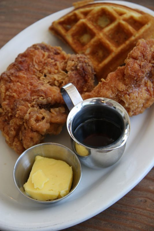 Fremont Diner Chicken and waffles in Sonoma