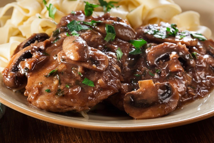 Chicken marsala from Mamma Tanino's Ristorante
