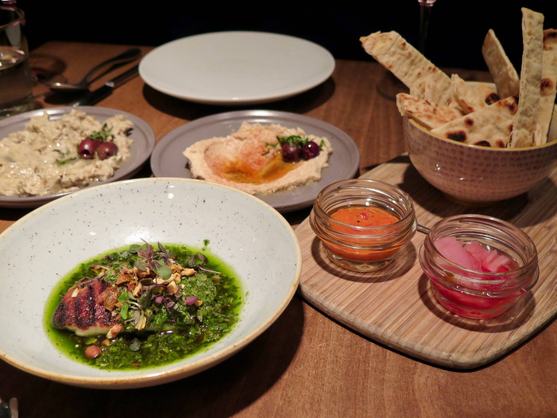 A preview of Stockhome meze and dishes at PLÄJ Restaurant earlier this year.