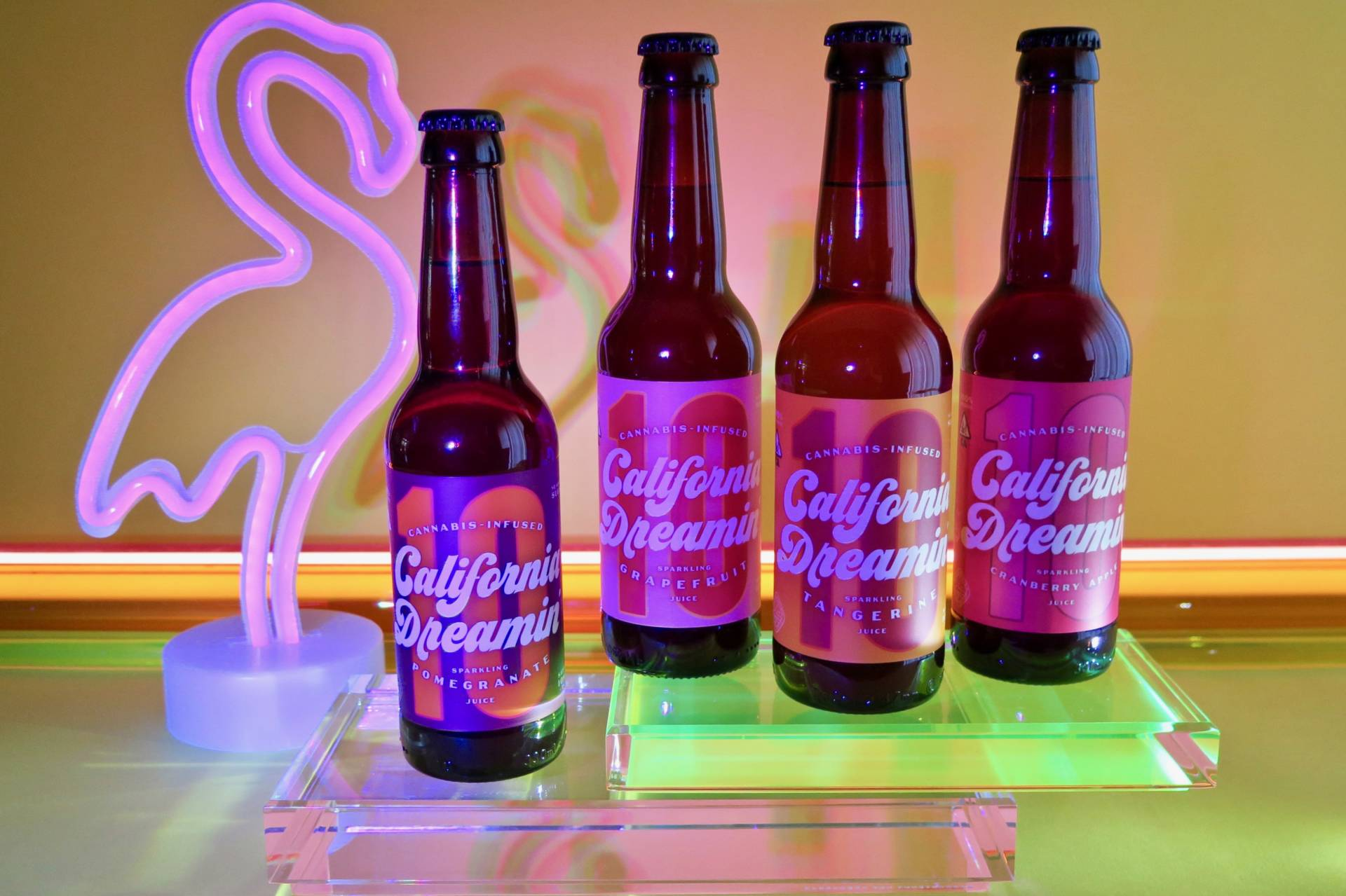 California Dreamin' has a line of four fruity, THC-infused sodas.