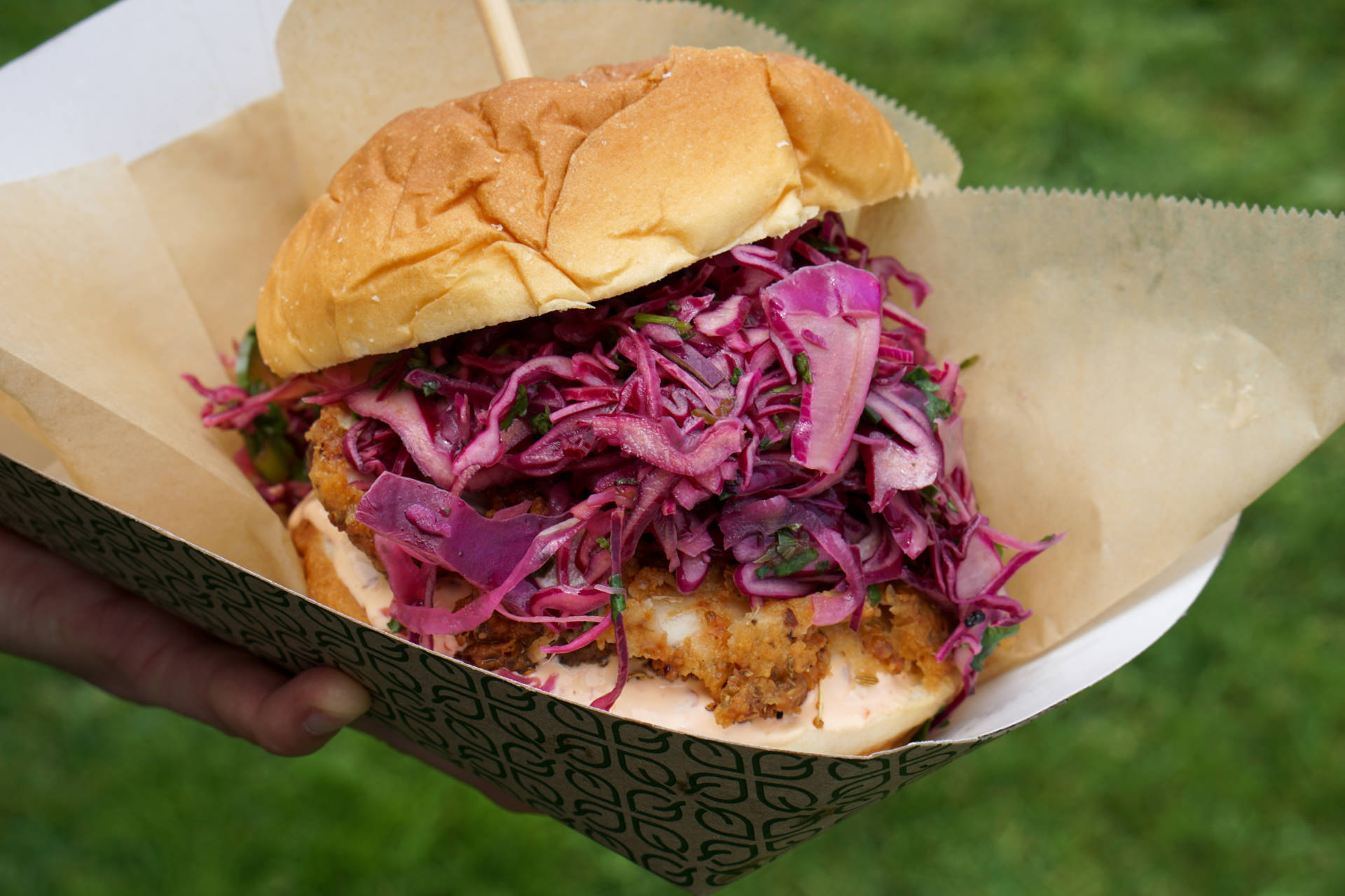Sorrel's Fried Chicken Sandwich with Jalapeño Slaw