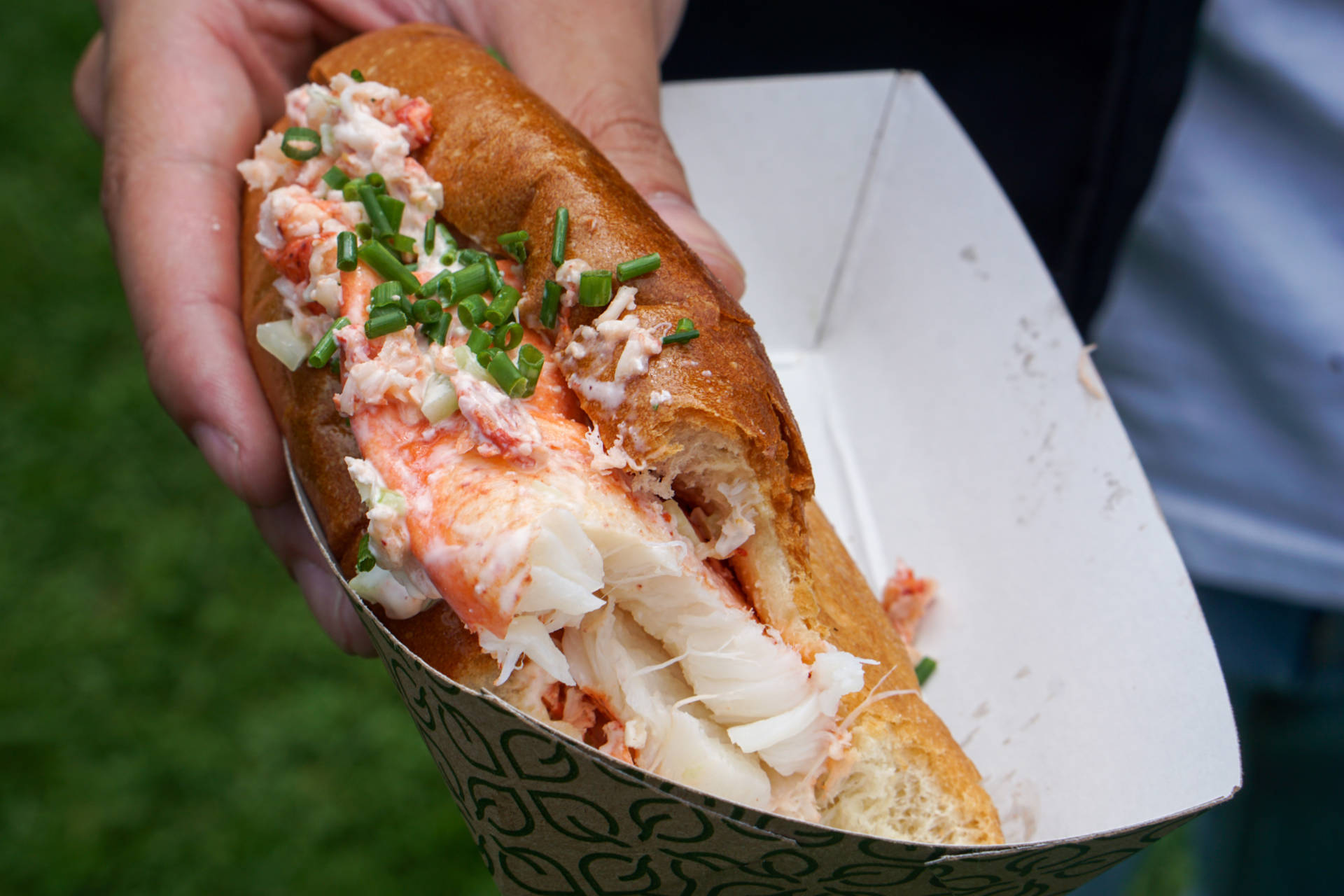 Devouring this Woodhouse Fish Co. lobster roll