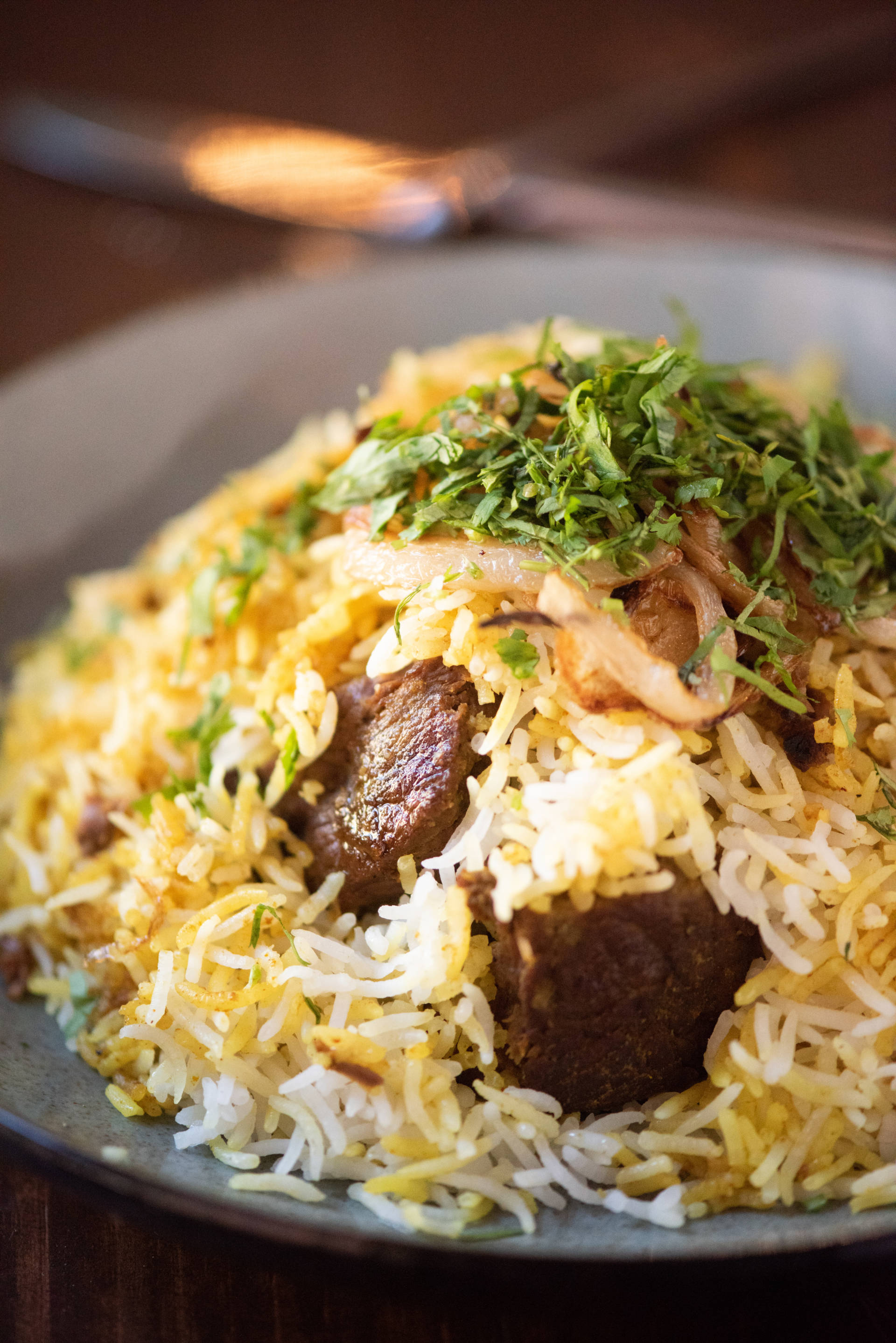 You'll find chef Rupam's famed biryani at Ritu.