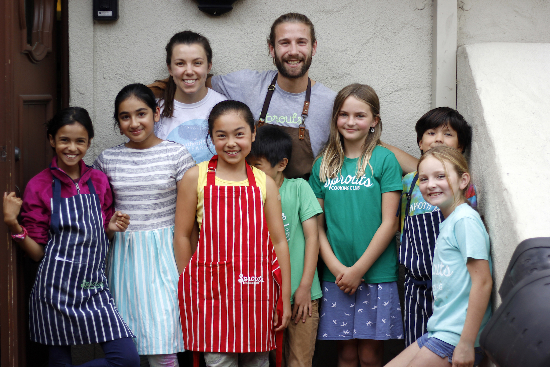 Students at Sprouts Cooking Club learn basic cooking techniques from a team of chefs with diverse backgrounds and philosophies.