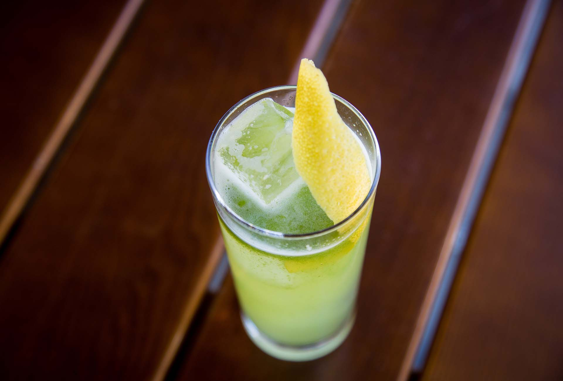 The Tarragon is a simple refreshing drink using tarragon syrup lemon and soda