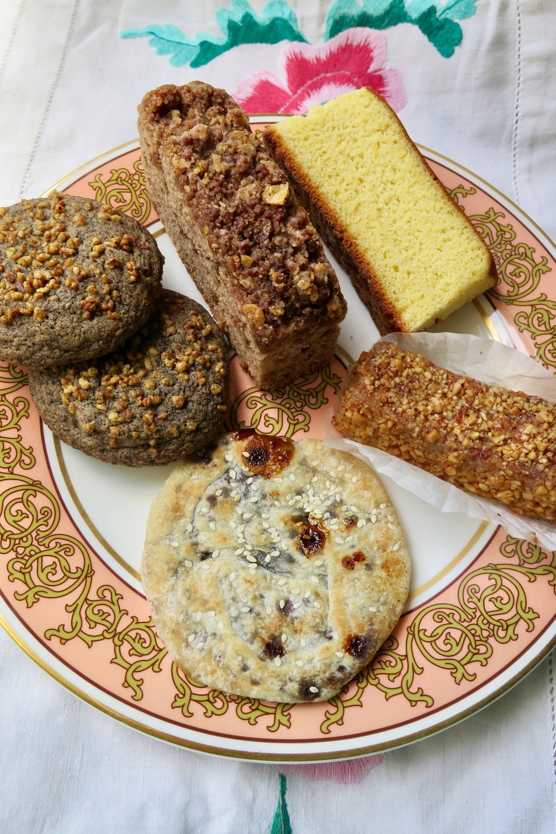 A sampling of baked goods in the Pastry Box from Breadbelly.