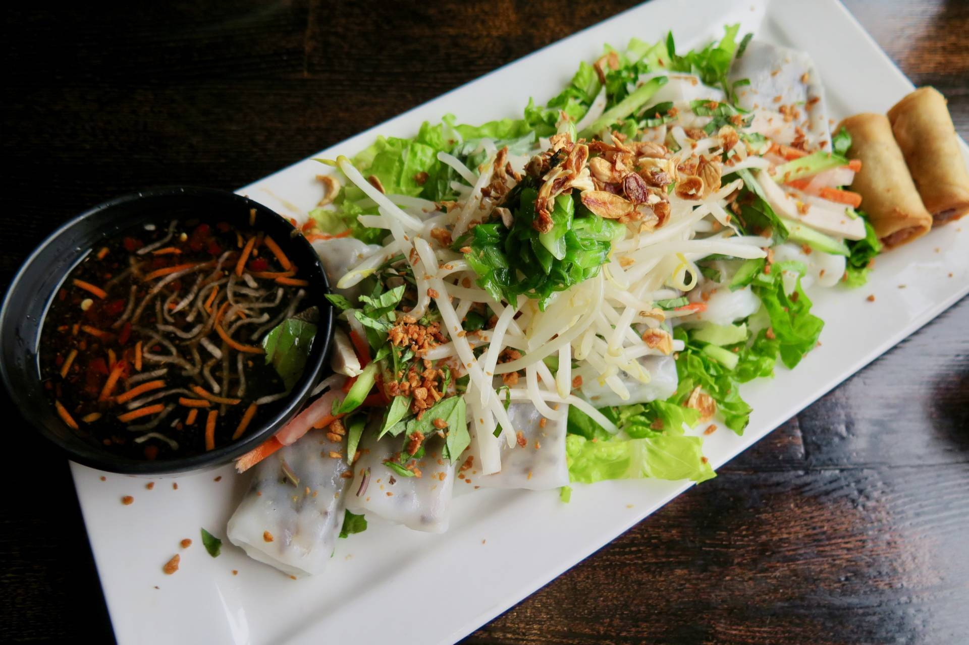 Don't miss the banh cuon, a special dish only on Tuezday Noodz Day.