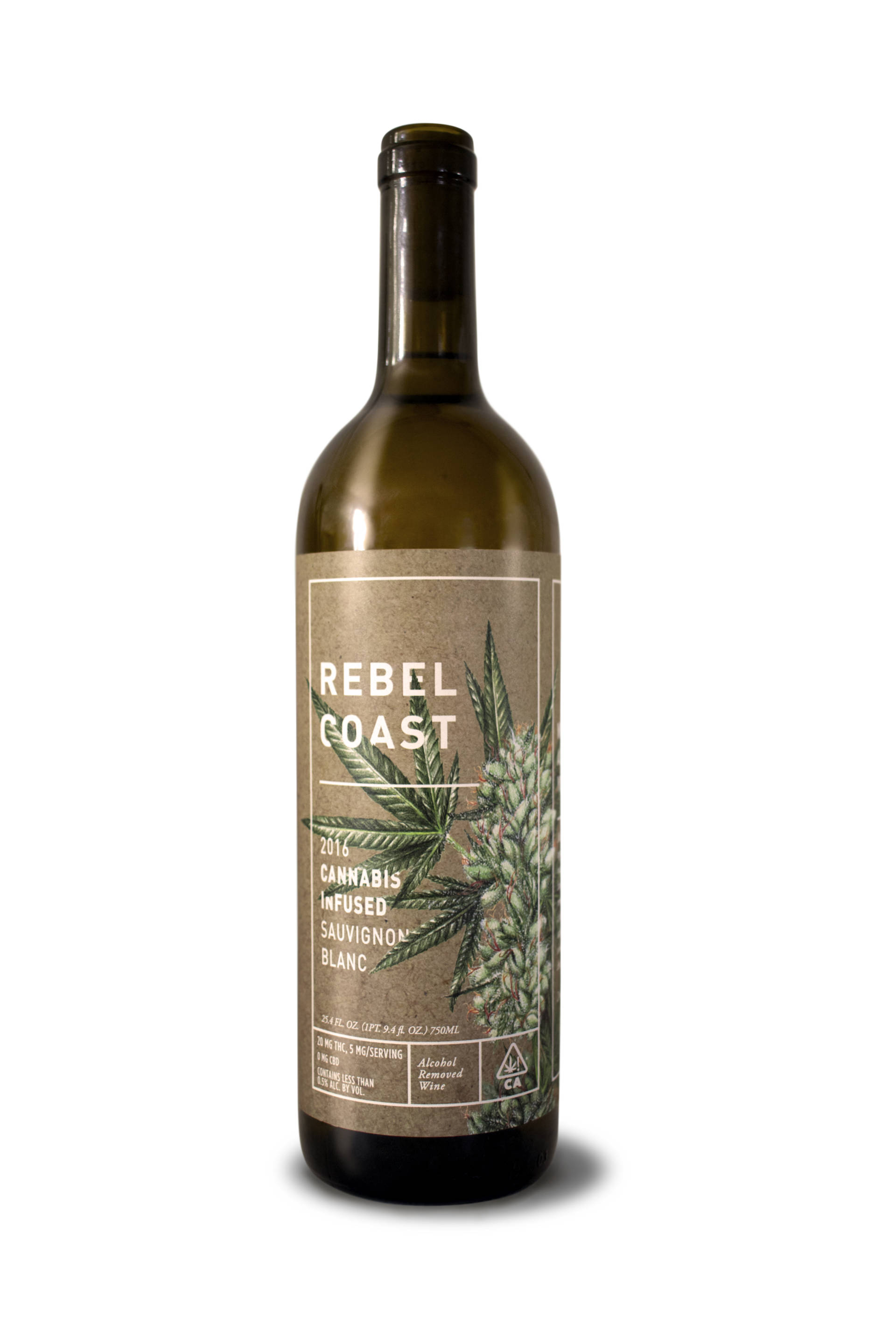 Rebel Coast Winery's THC-infused sauvignon blanc.