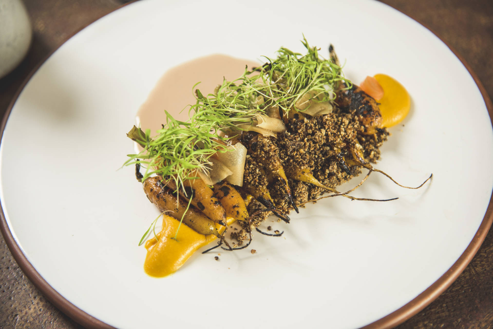 The carrot mole dish from guest chef Julio Aquilera of El Destilado in Oaxaca.