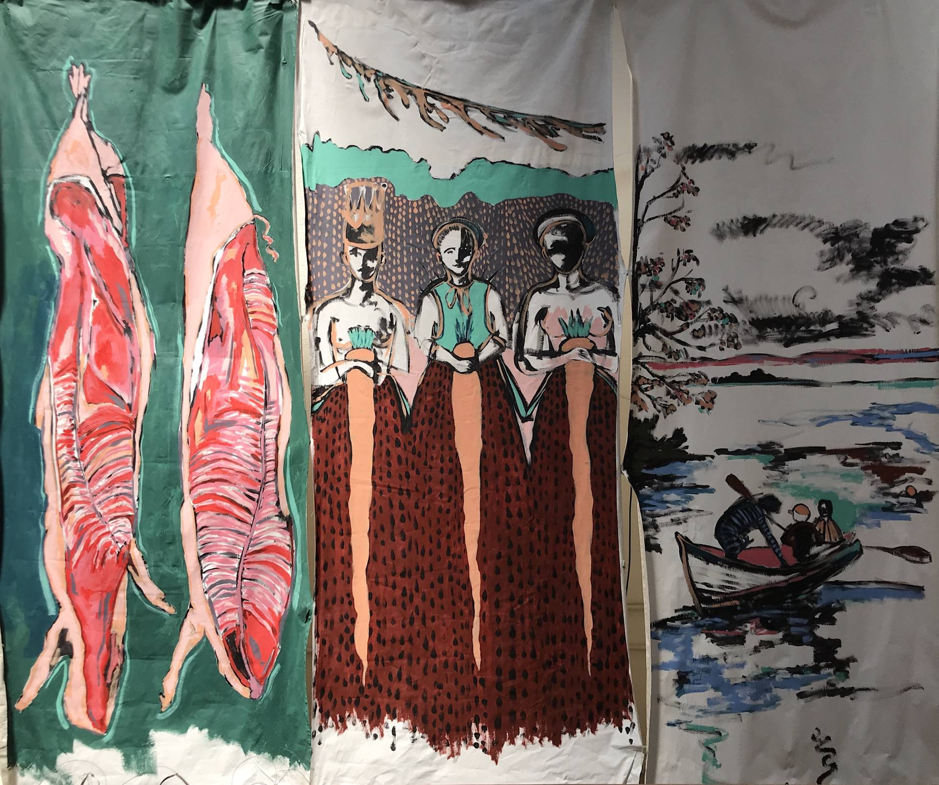 Artwork by Isis Hockenos will practically come to life at the next Nightfishing event at The Midway.