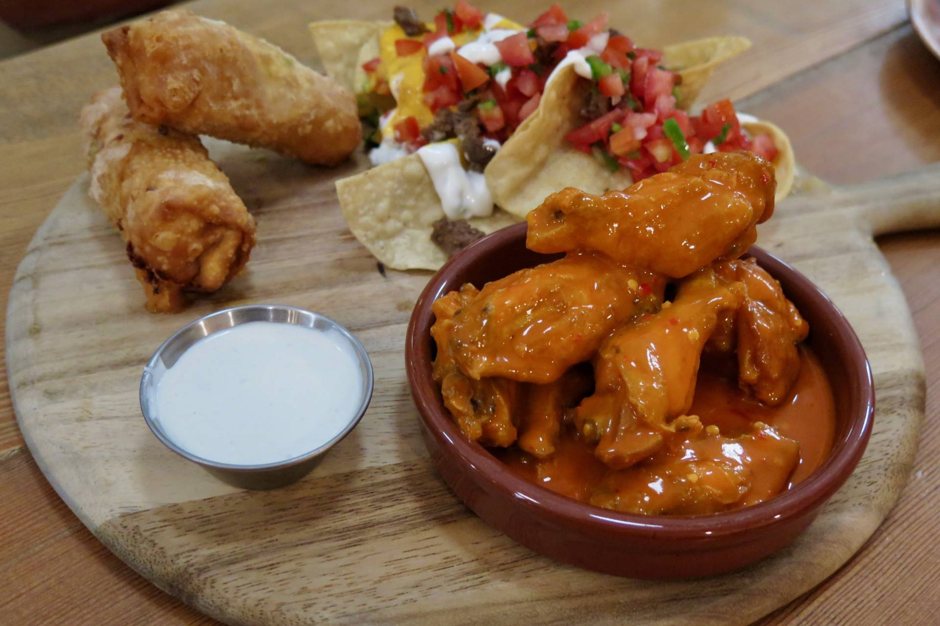The Board also offers some wicked snacks, from spicy wings to Board rolls to nachos.