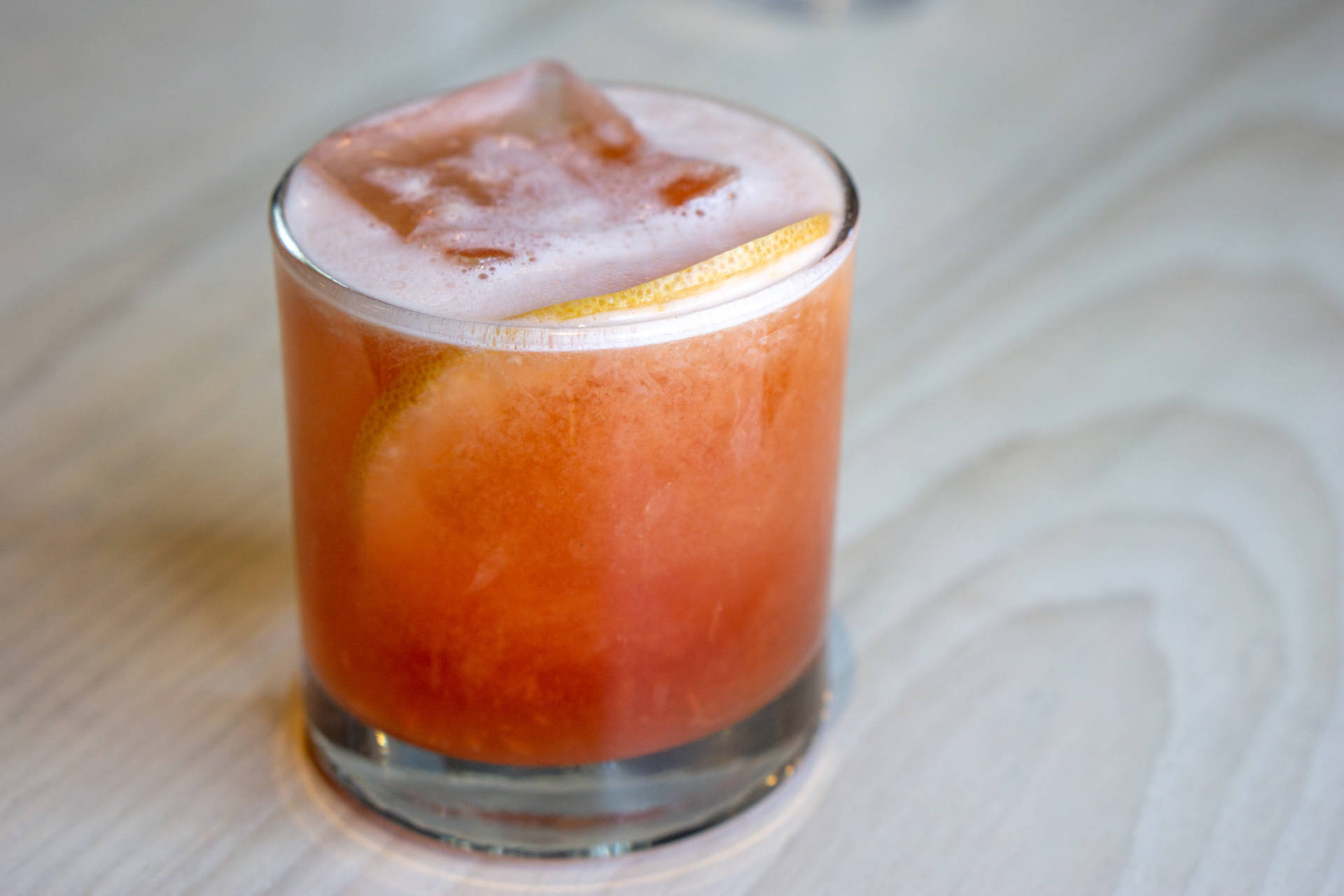 Strong's on the spot juiced grapefruit-forward Italian Greyhound with Cappelletti and Bruto Americano.
