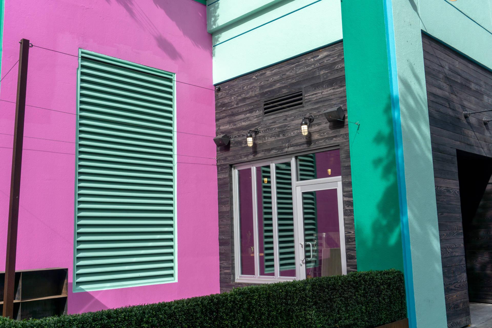 Isla Vida's bright exterior is hard to miss on Fillmore.