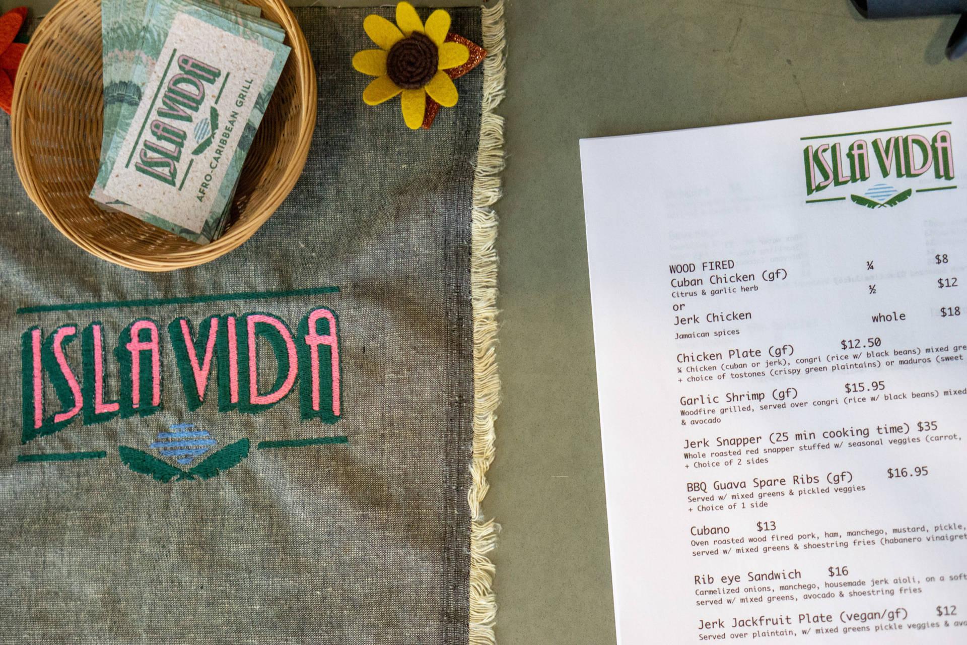 The menu at Isla Vida is small, but mighty.