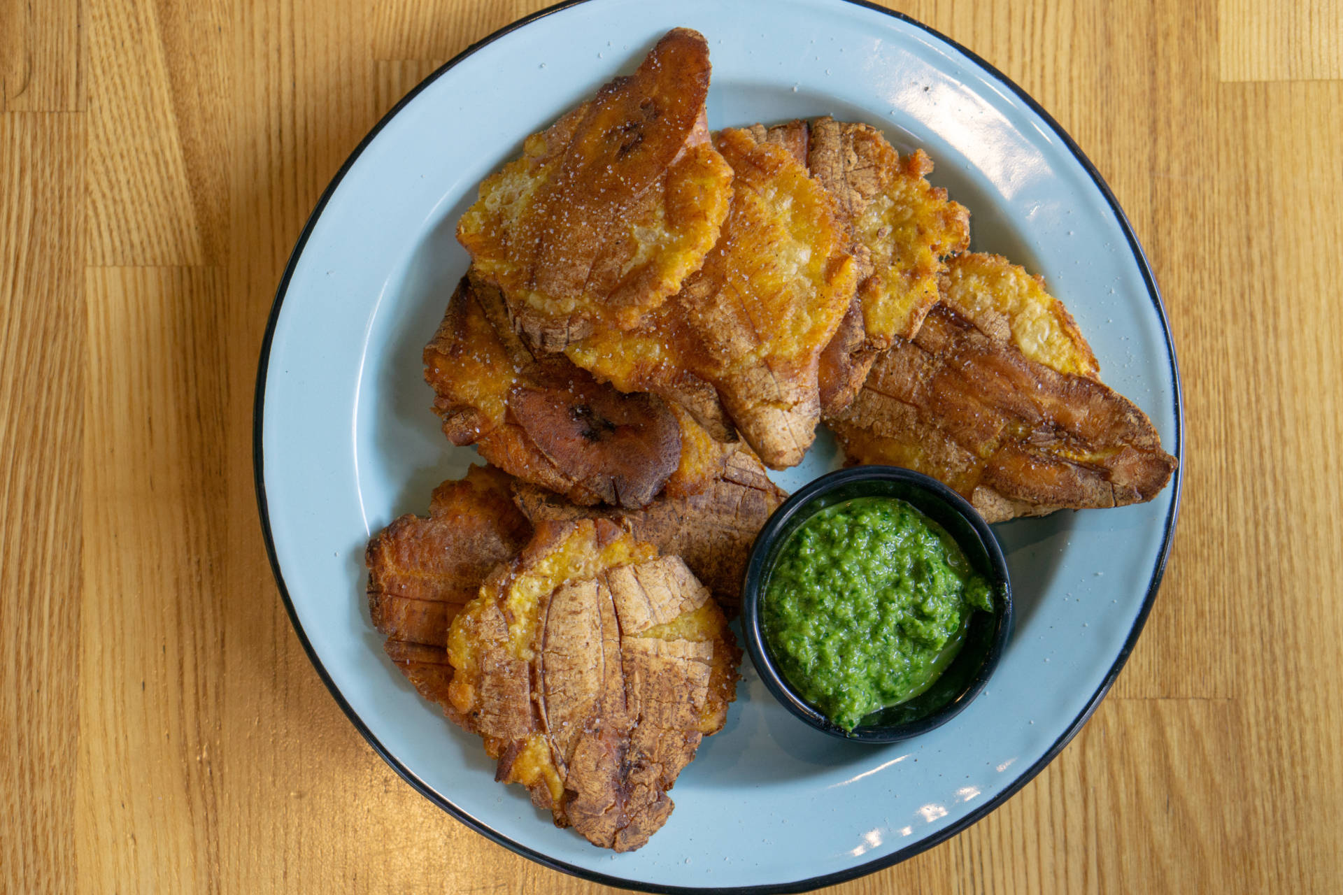 """Plantains in the """"tostones"""" style."""