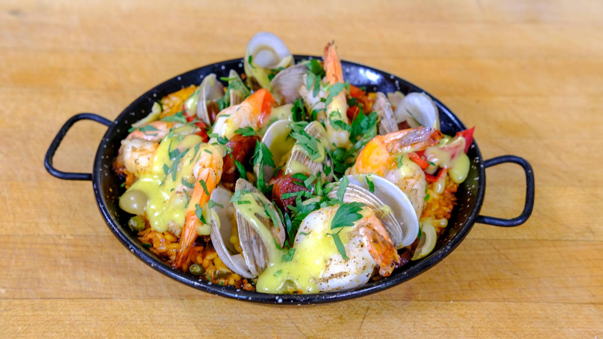 Chef Jen Biesty's Seafood Paella