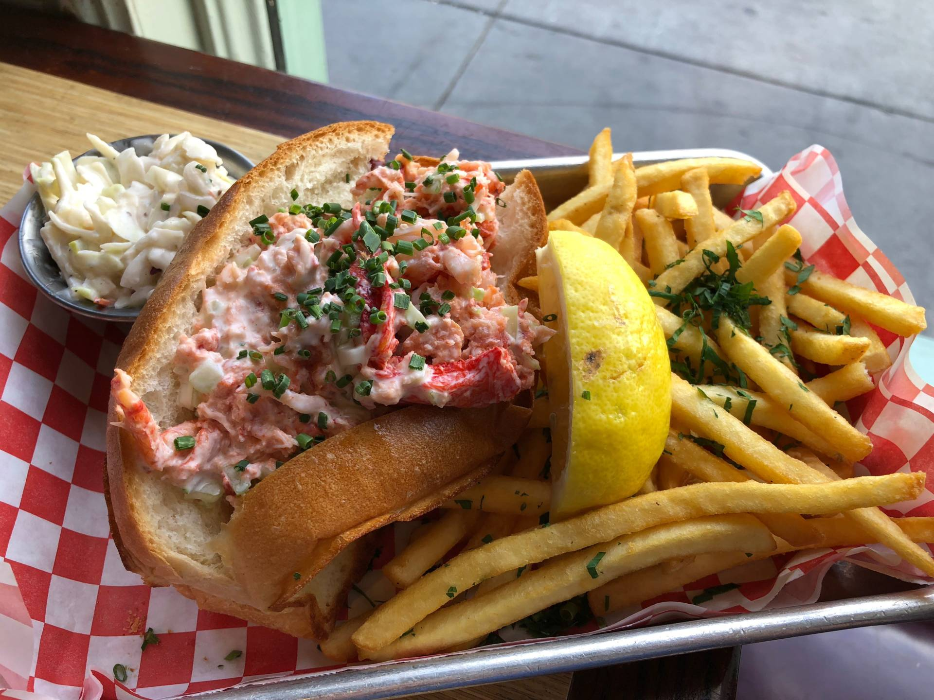 Mayo-based lobster roll at Woodhouse Fish Co.
