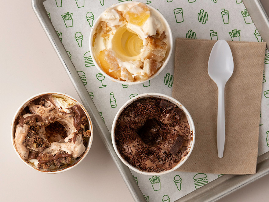 Shake Shack's frozen custard concretes in collaboration with local purveyors.