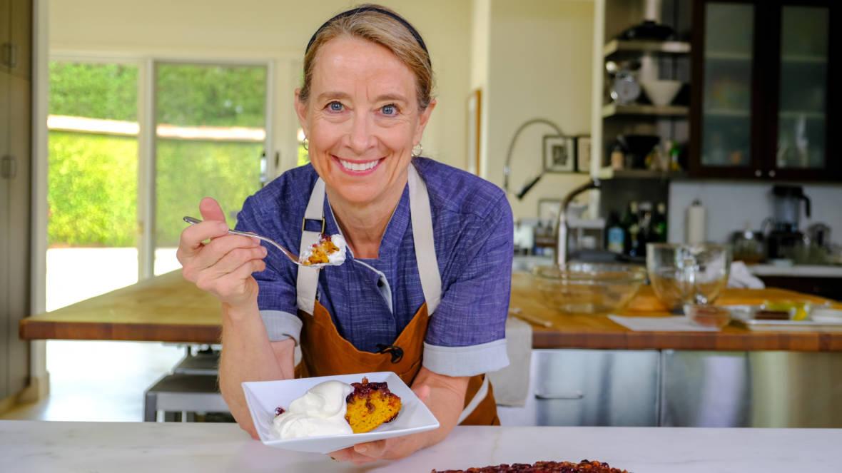 Celebrity Chefs Recipes: Emily Luchetti's Pumpkin Upside-Down Cake