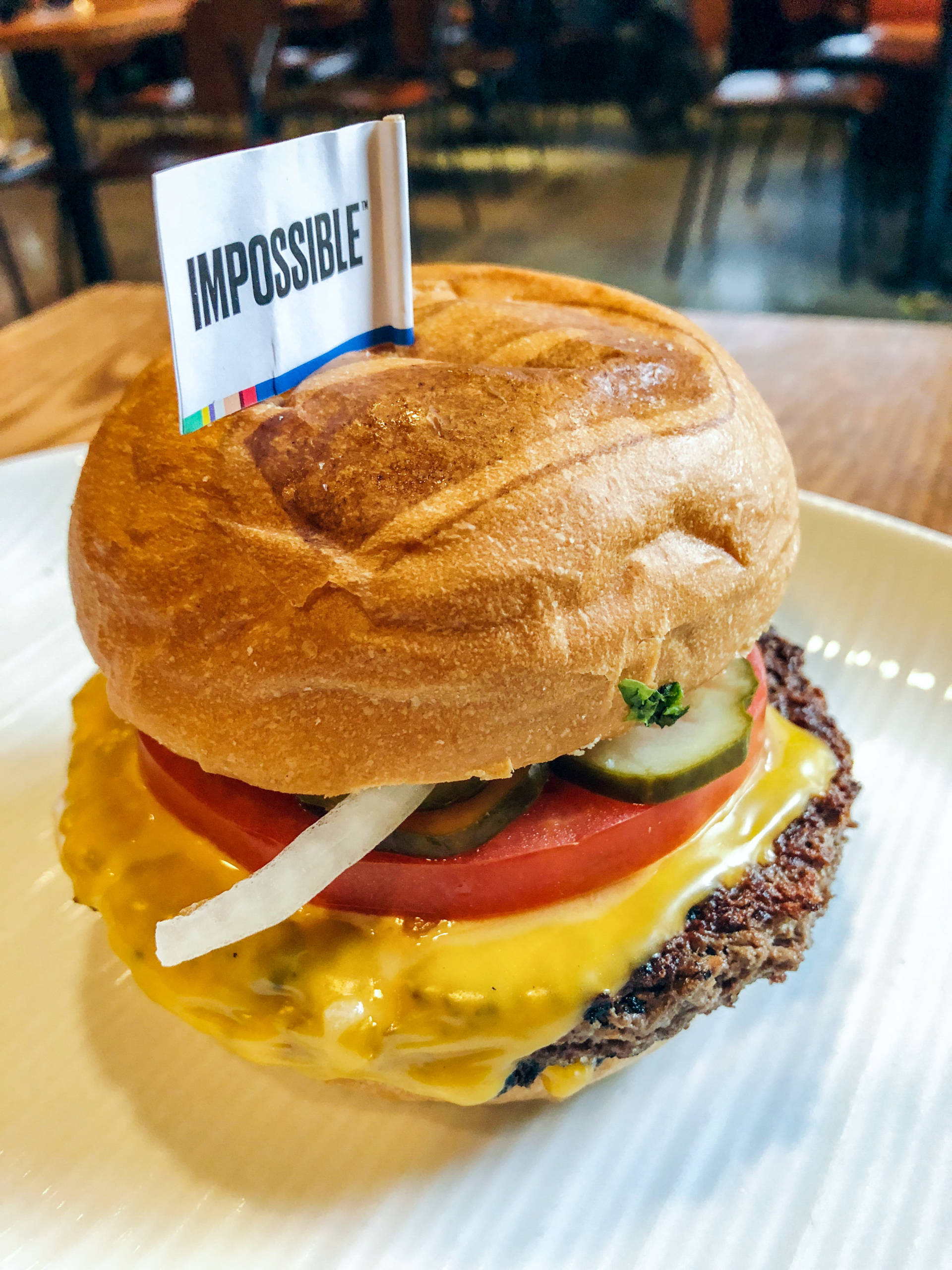 The Impossible Burger can be found at restaurants like Umami Burger