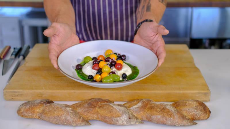 "Celebrity Chefs Recipes: Chris Cosentino's ""Taste the Rainbow"" Burrata Salad"