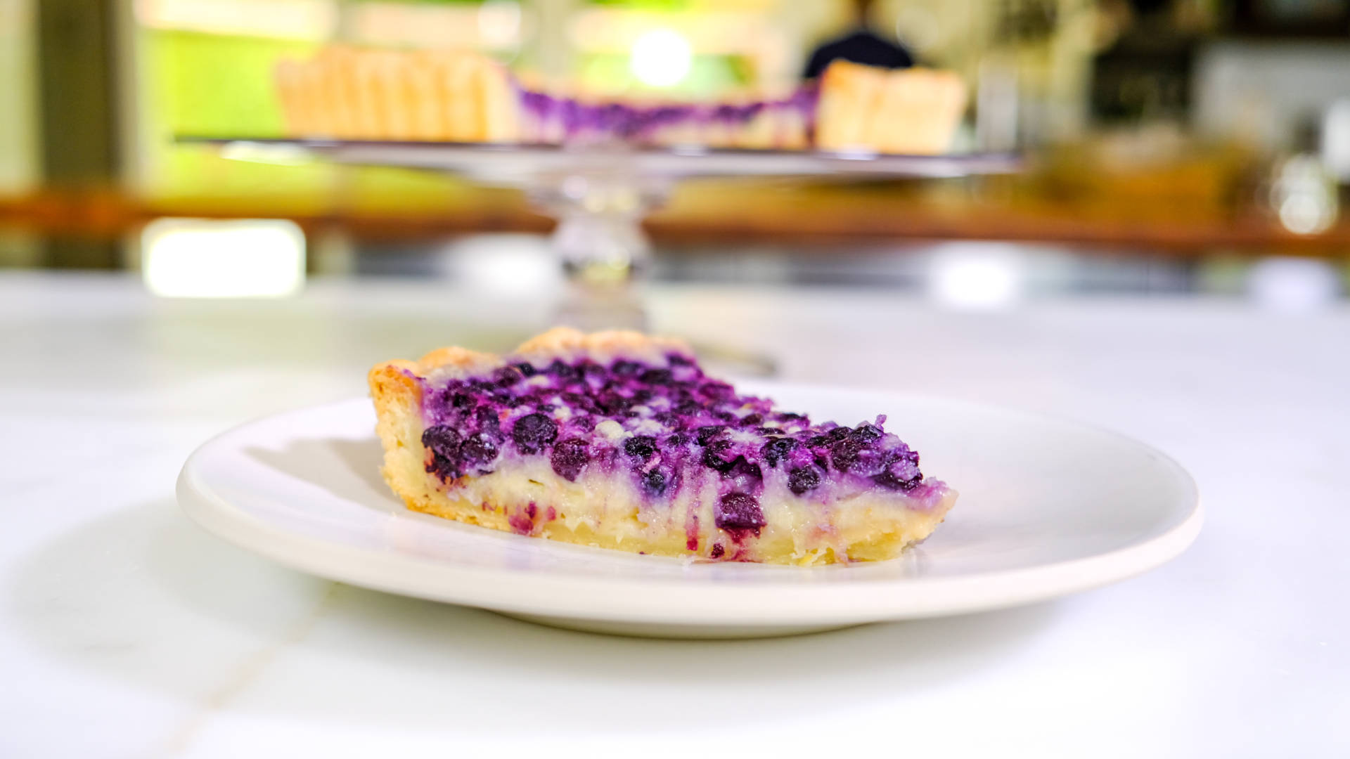 Wild blueberries and lemon make this tart a real treat.
