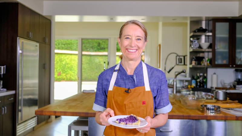 Celebrity Chefs Recipes: Emily Luchetti's Wild Blueberry Lemon Tart
