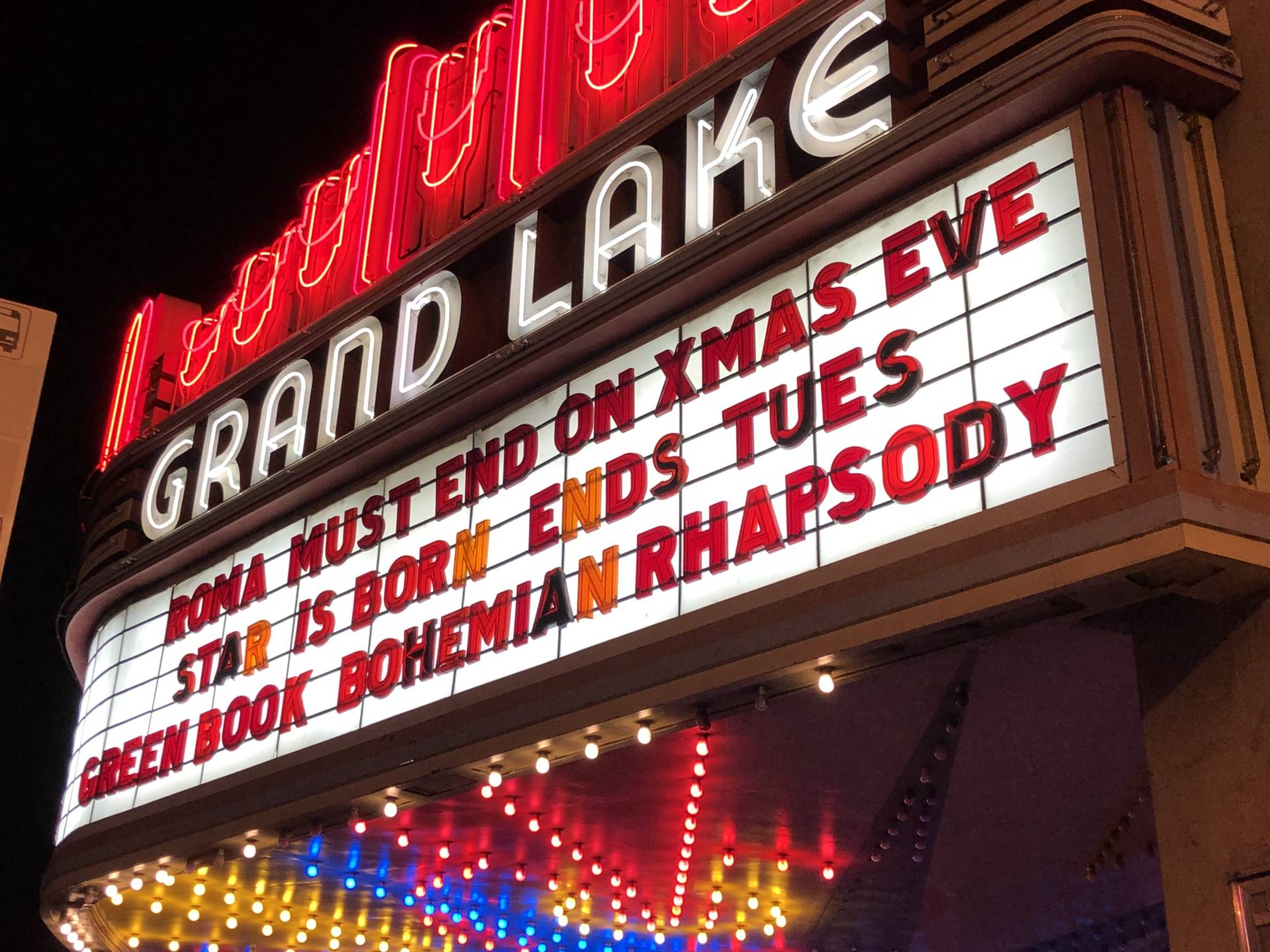 The Grand Lake Theatre has been a community staple for moviegoers in Oakland since 1926. Photo courtesy the author.