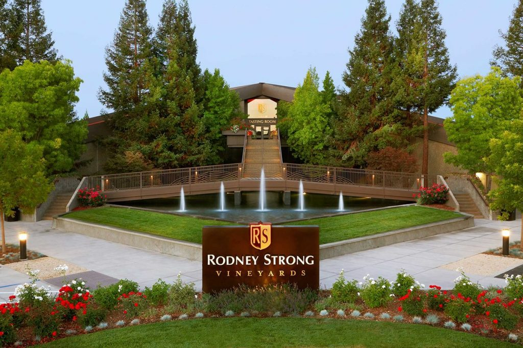 Rodney Strong Vineyards entrance.